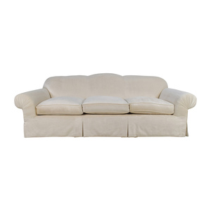 shop  Beige 3 Seater Skirted Sofa with Kravet Fabric online