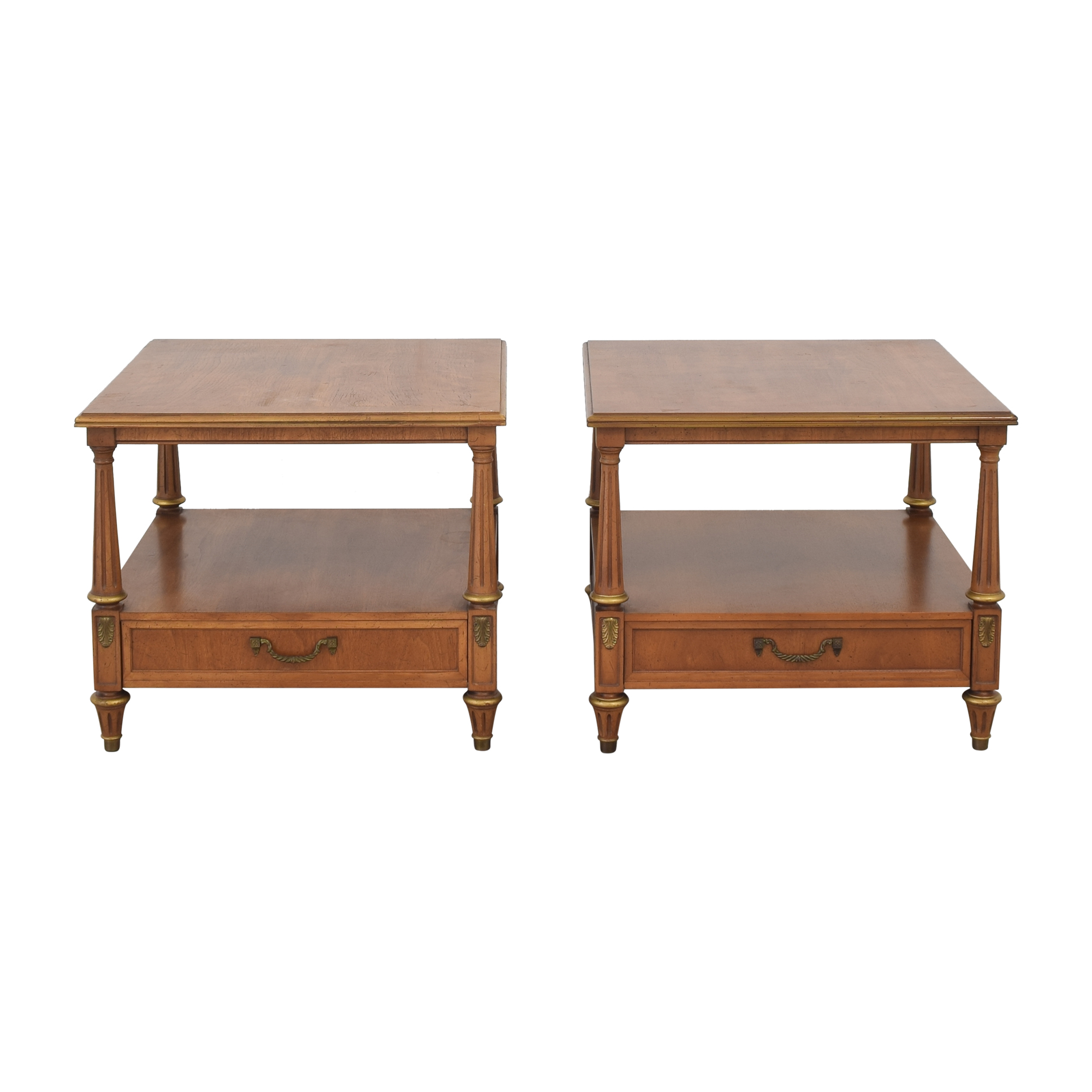 Henredon Furniture Henredon Two Tier End Tables pa