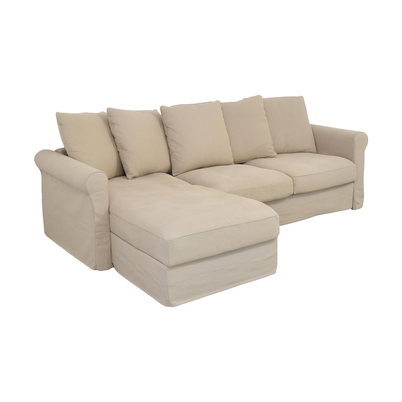 IKEA IKEA Harlanda Sofa with Storage Chaise