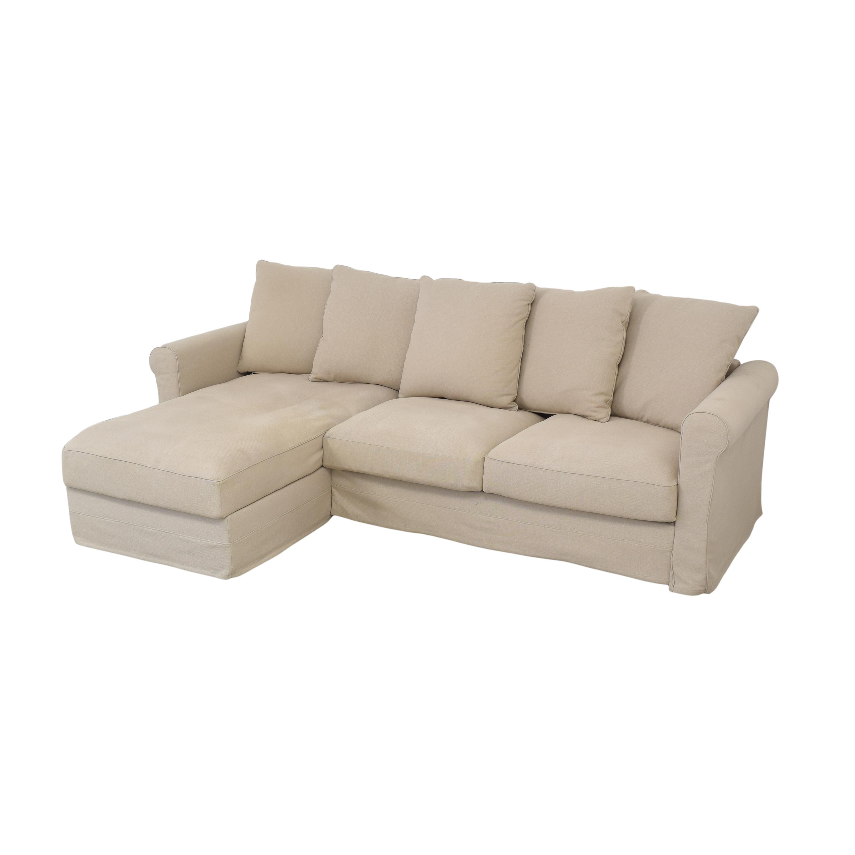 IKEA Harlanda Sofa with Storage Chaise sale