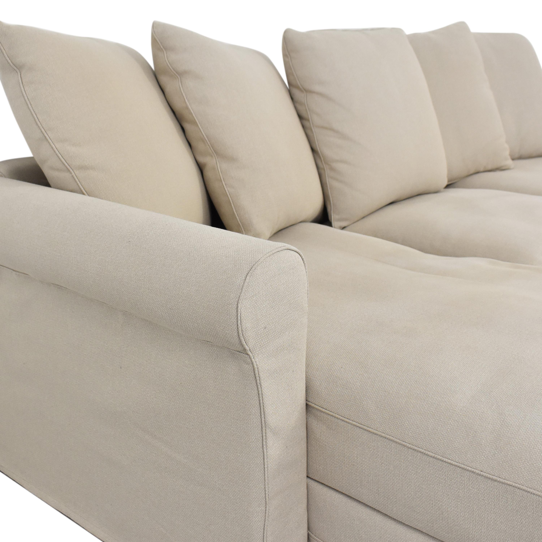 IKEA IKEA Harlanda Sofa with Storage Chaise coupon