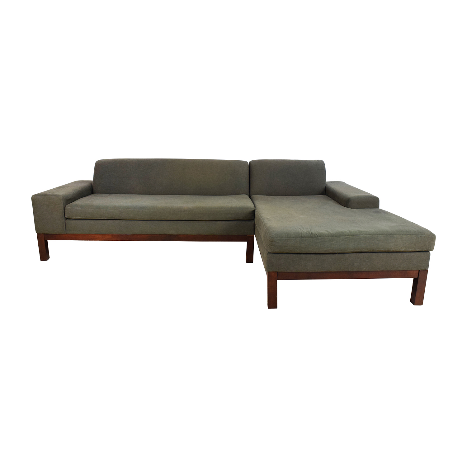 buy West Elm Lorimer Green Sectional West Elm