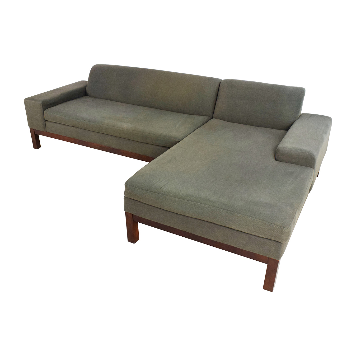 used west elm furniture. West Elm Lorimer Green Sectional Used Furniture O