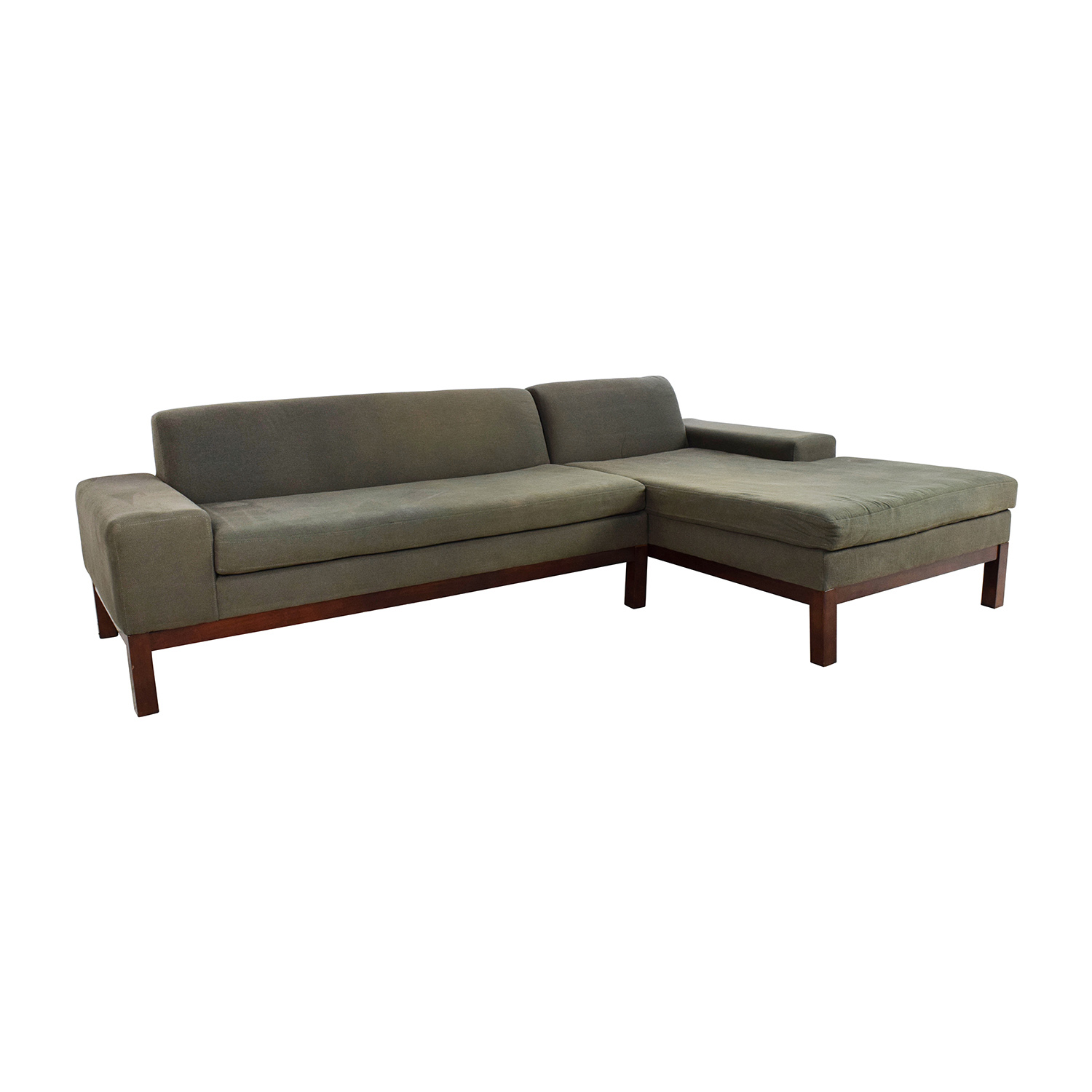 86 Off West Elm West Elm Lorimer Green Sectional Sofas
