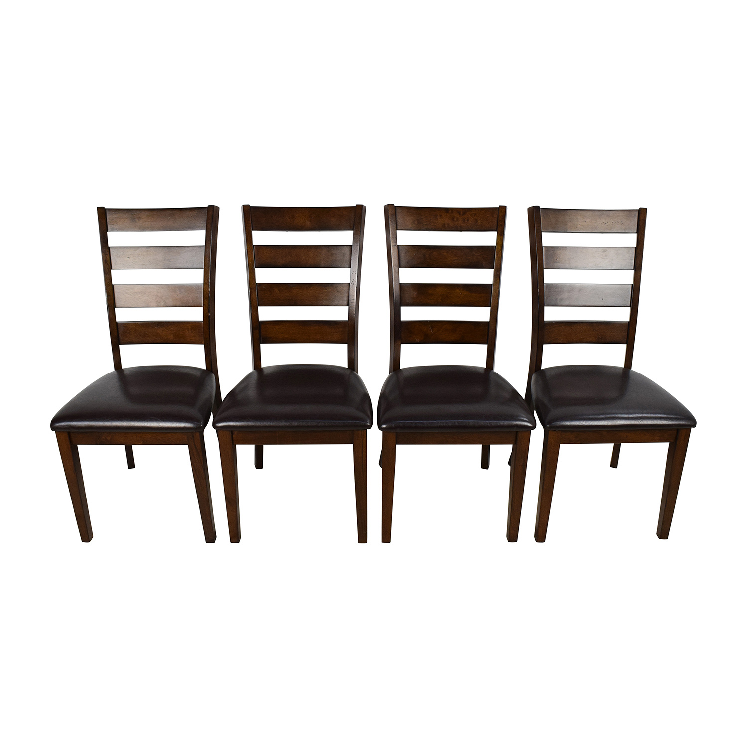 Raymour Flanigan Raymour & Flanigan Kona Dining Chairs Dark Brown