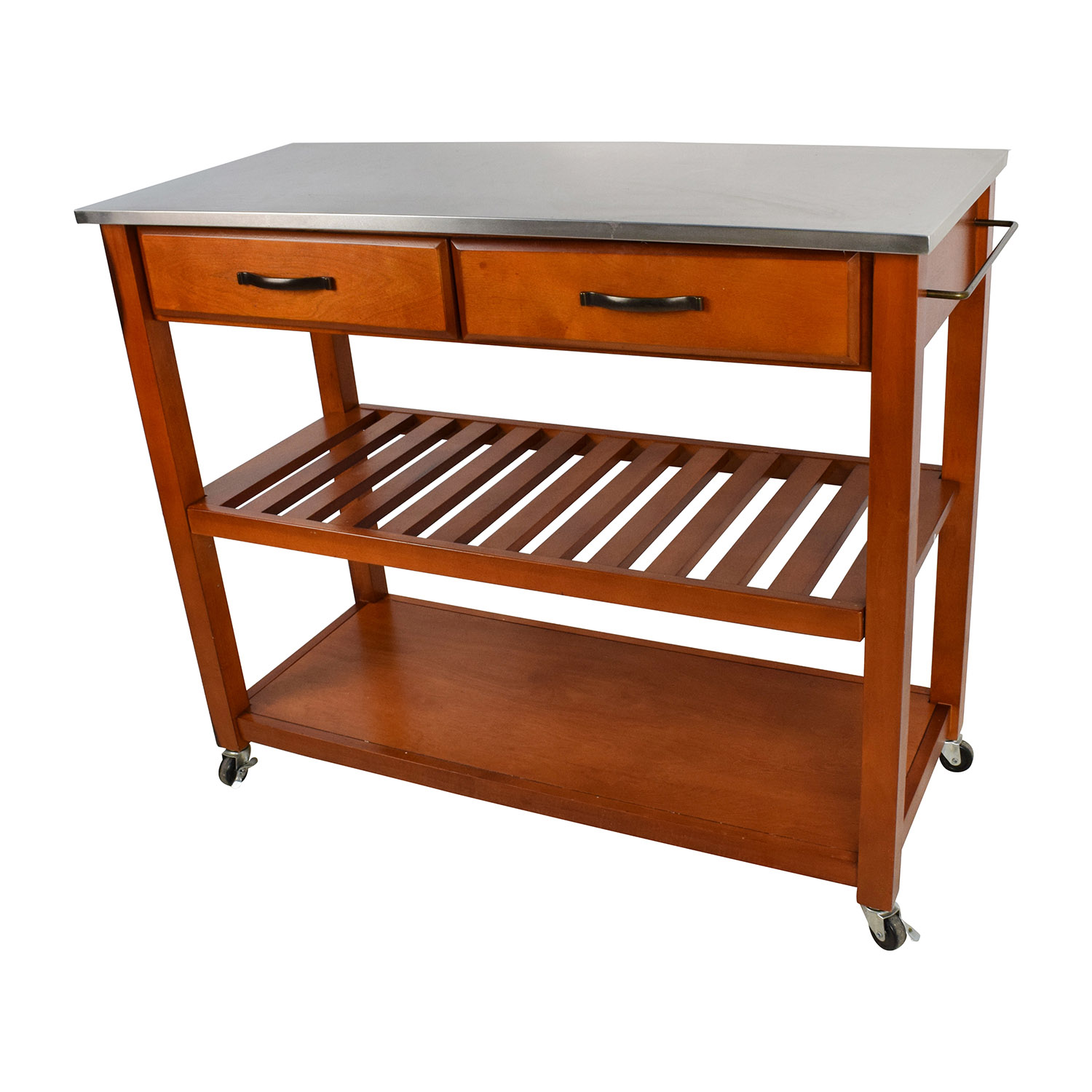 Crosley Natural Wood Top Kitchen Island
