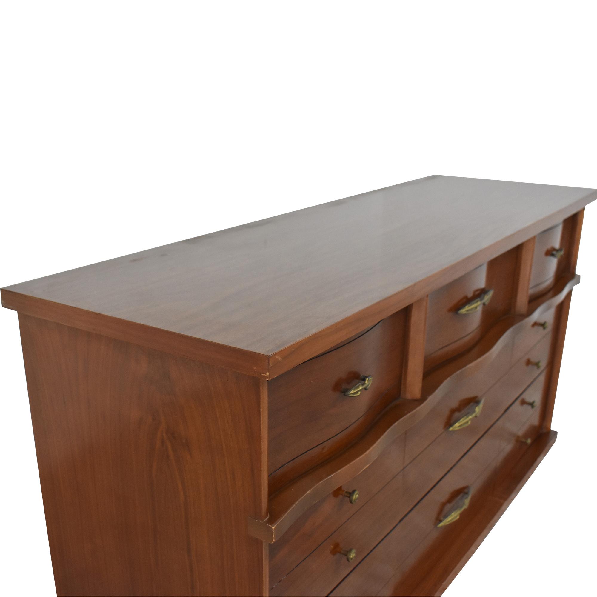 Ward Furniture Ward Furniture Vintage Nine Drawer Dresser dimensions