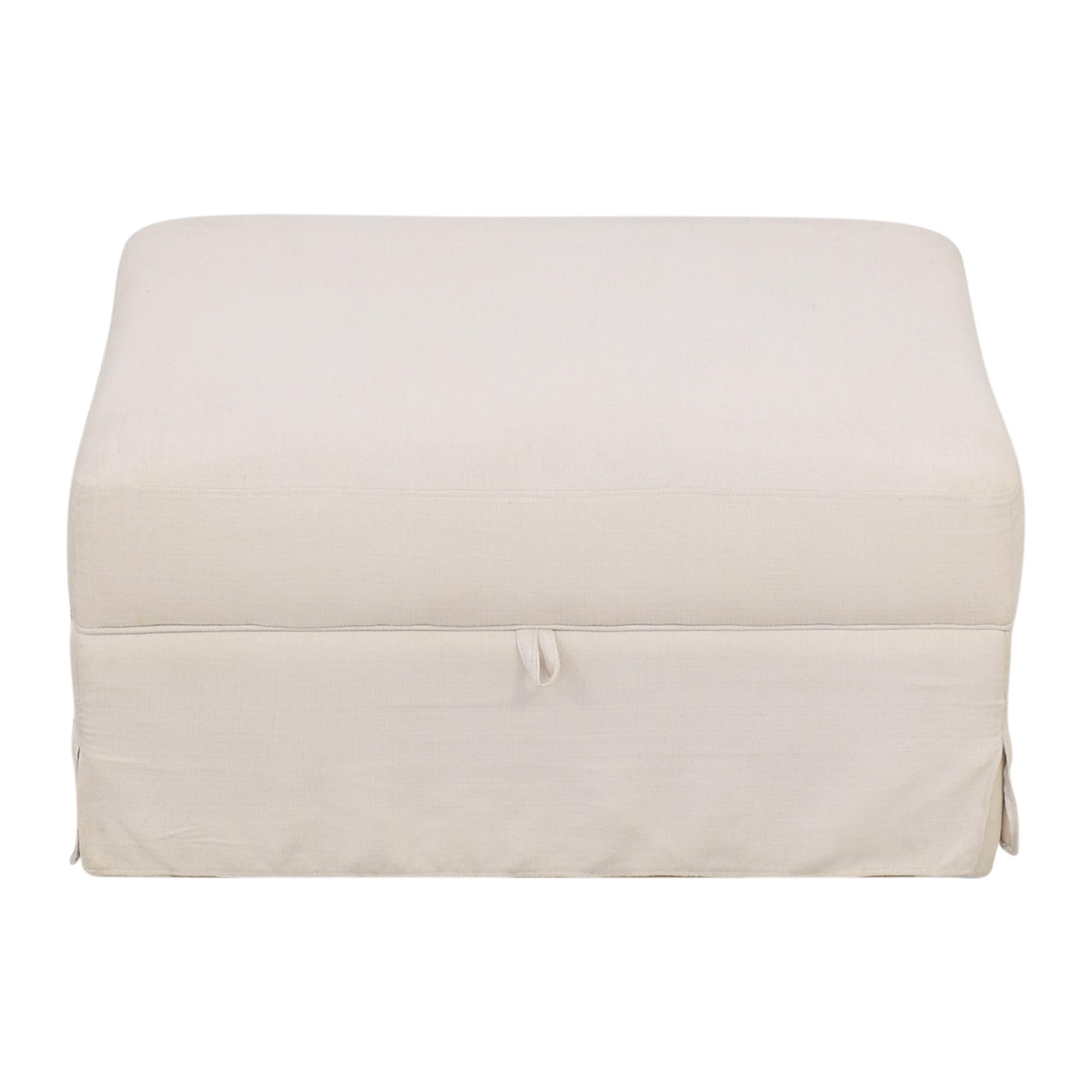 World Market World Market Brynn Storage Ottoman off white
