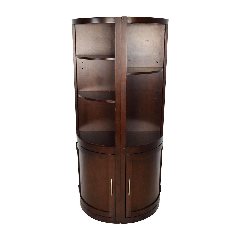 79 Off Wooden Corner Curio Shelves Storage