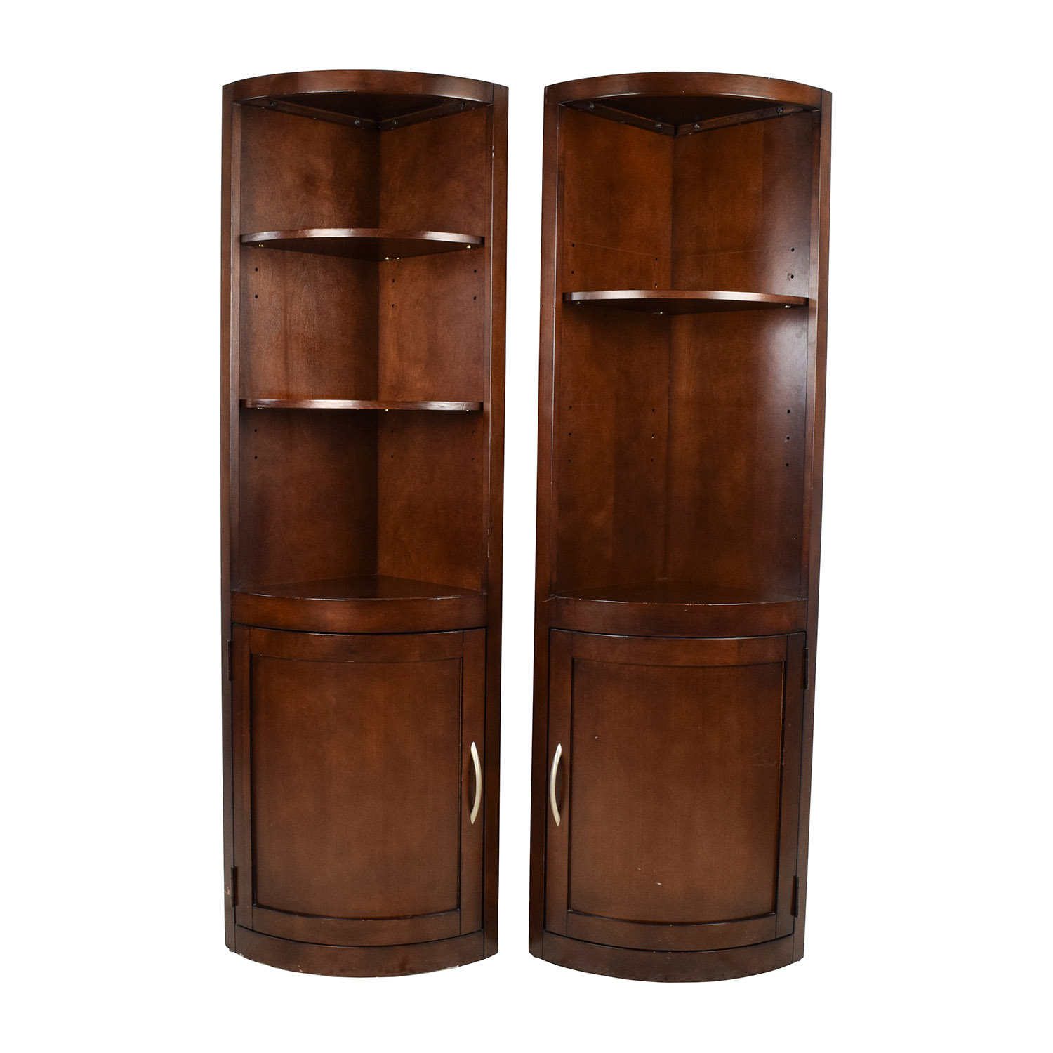 Wooden Corner Curio Shelves for sale