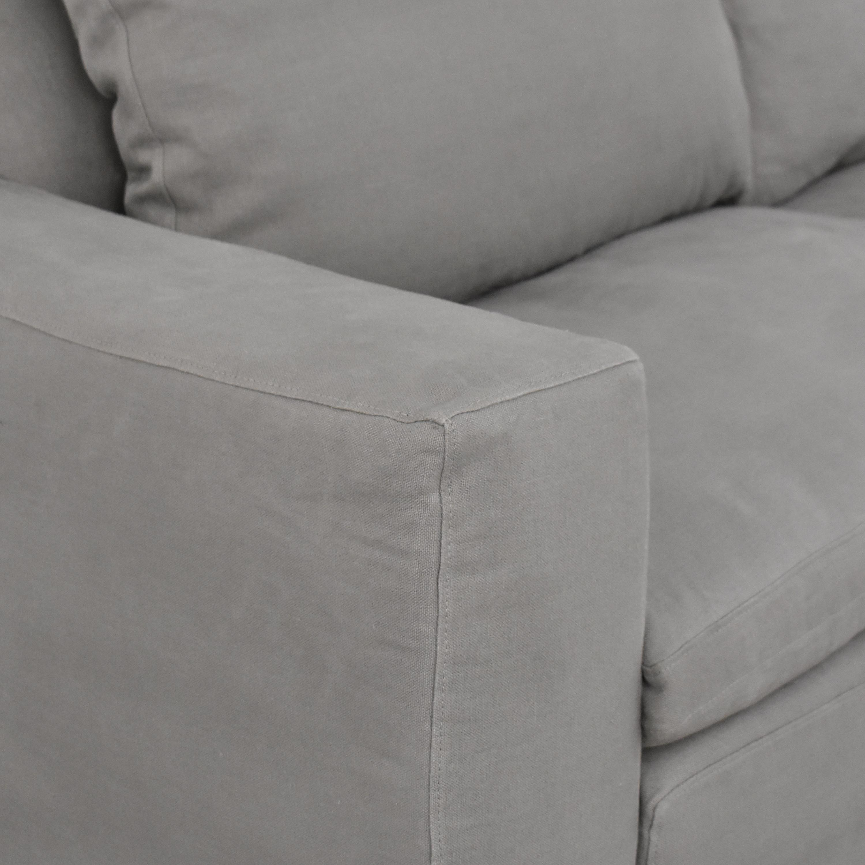 buy Restoration Hardware Cloud Two-Seat-Cushion Sofa Restoration Hardware