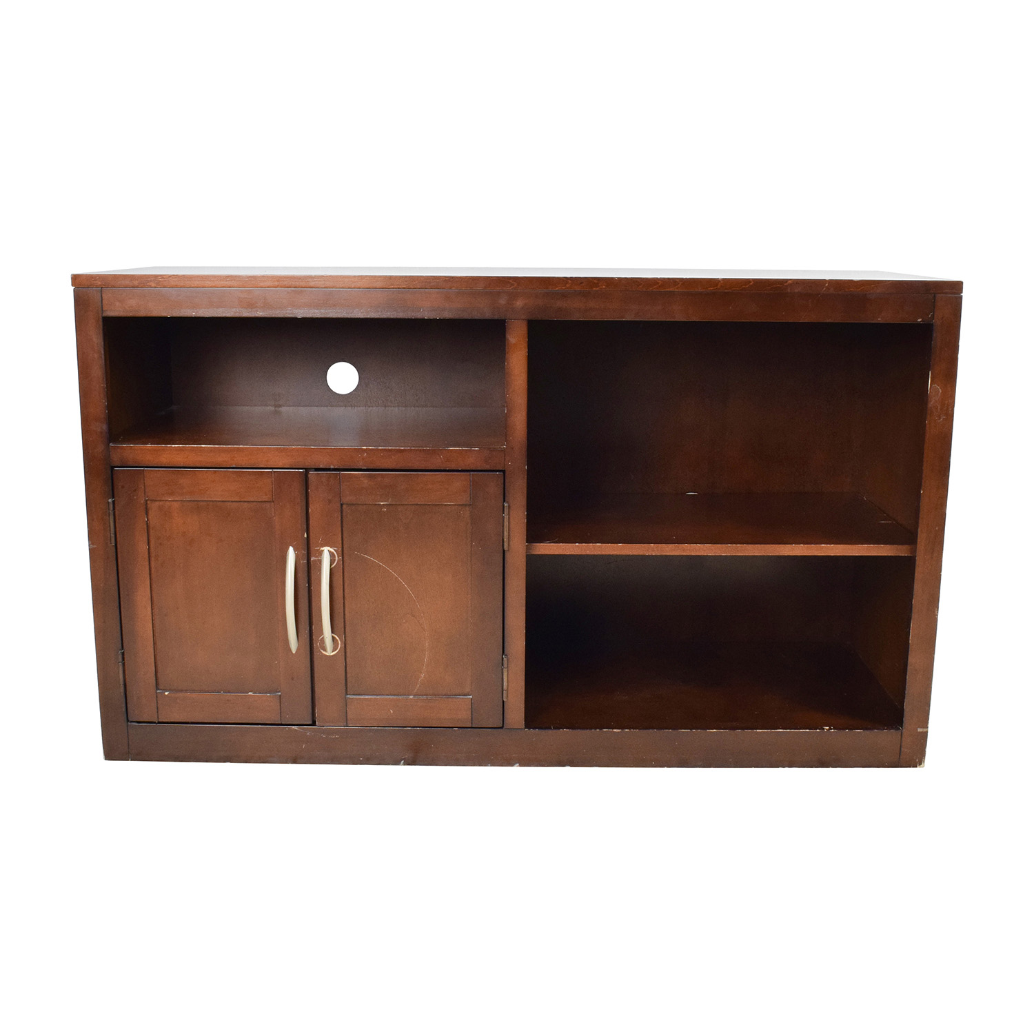 Wood TV Shelf Media Cabinet / Storage