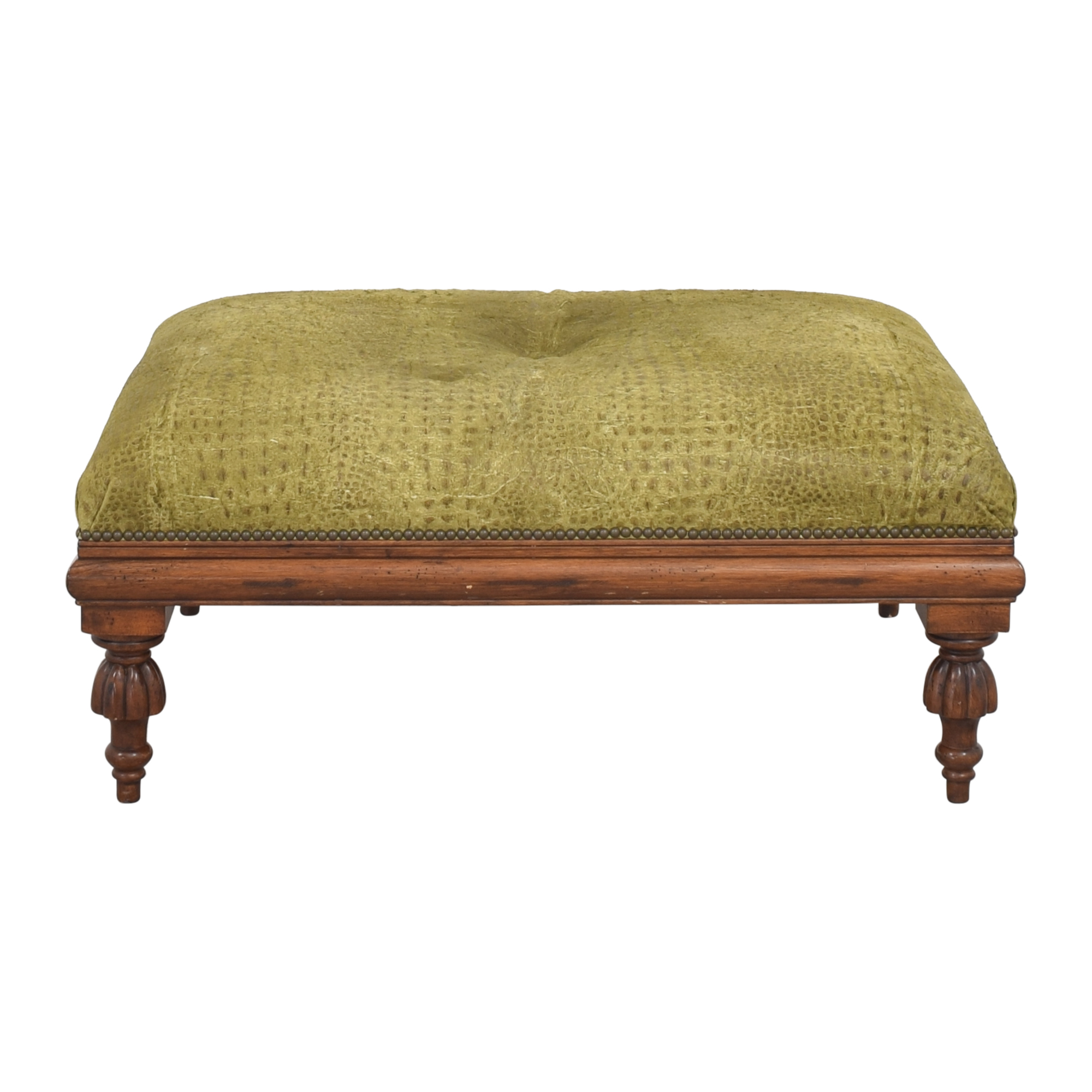 Nailhead Accented Ottoman second hand
