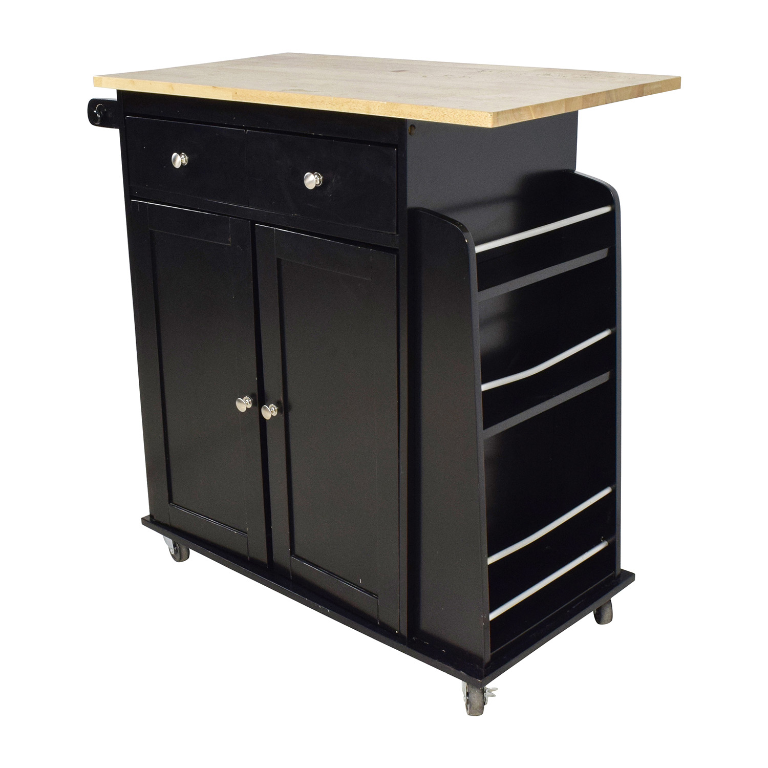 74 Off Kmart Large Kitchen Cabinet With Butcher Block