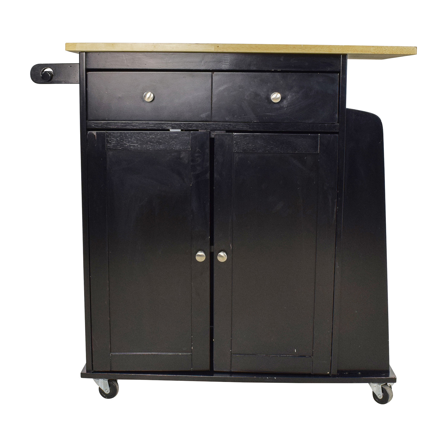Large Kitchen Butchers Block : 74% OFF - Large Kitchen Cabinet with Butcher Block Top / Tables