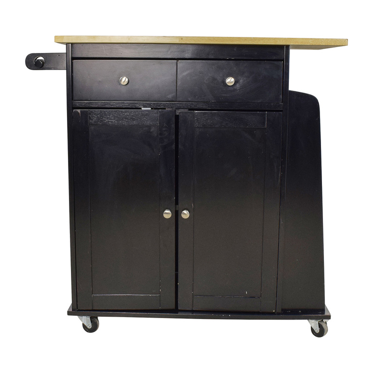 Large Kitchen Cabinet with Butcher Block Top Kmart