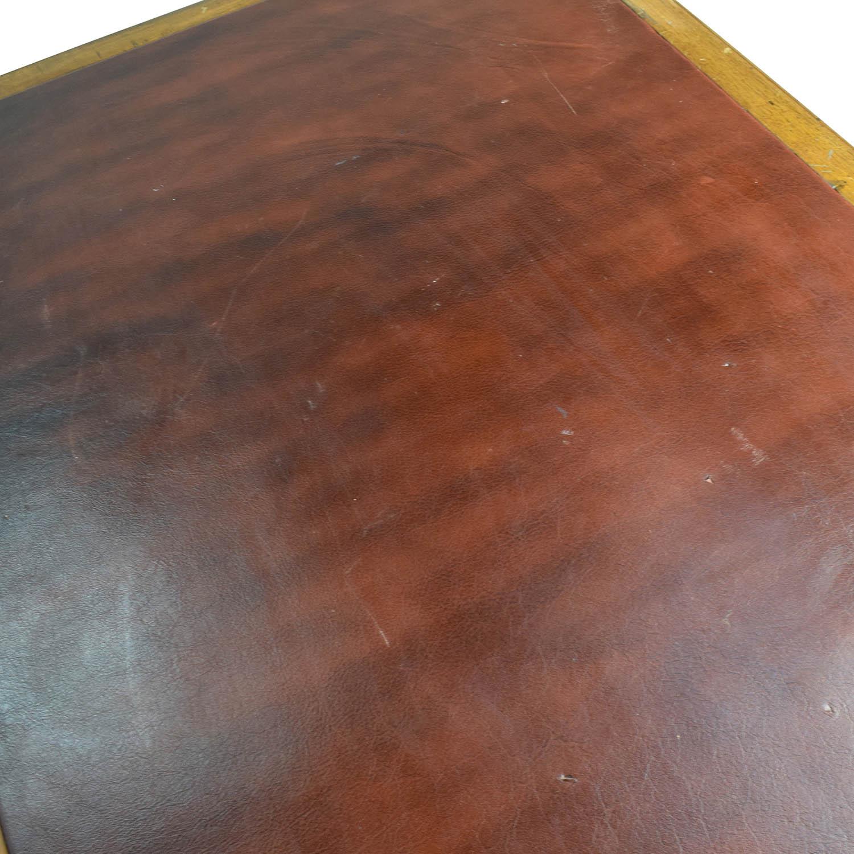 Eron Johnson Antiques English Colonial Teak Pedestal Desk / Tables