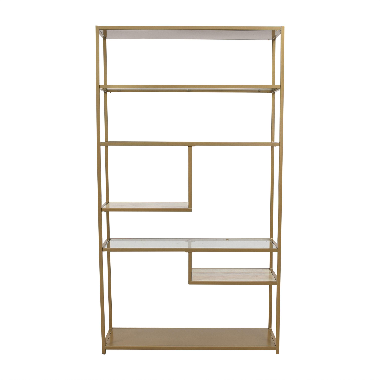 Wayfair Wayfair Foundstone Kit Geometric Bookcase gold