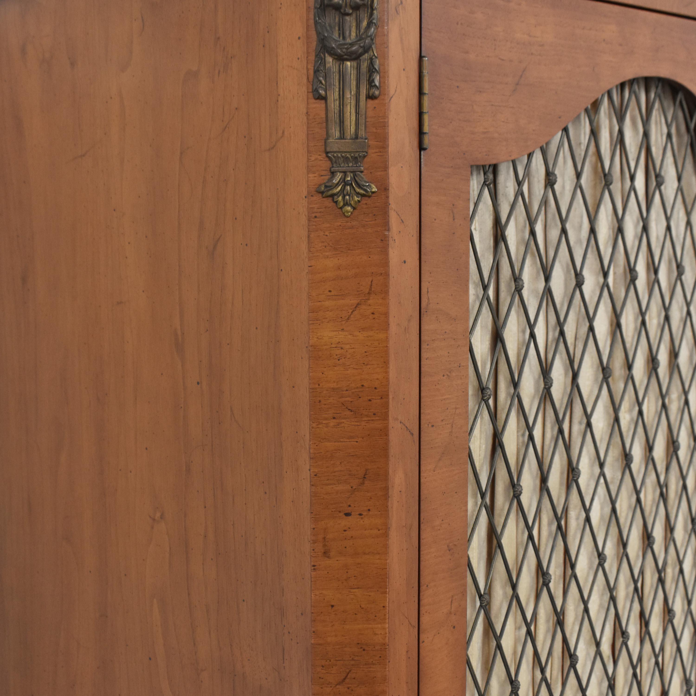 Henredon Furniture Henredon Lattice Door Armoire