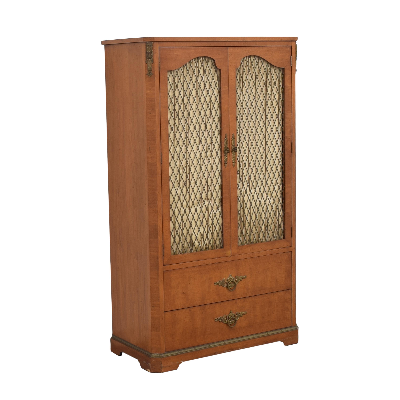 Henredon Furniture Henredon Lattice Door Armoire ct