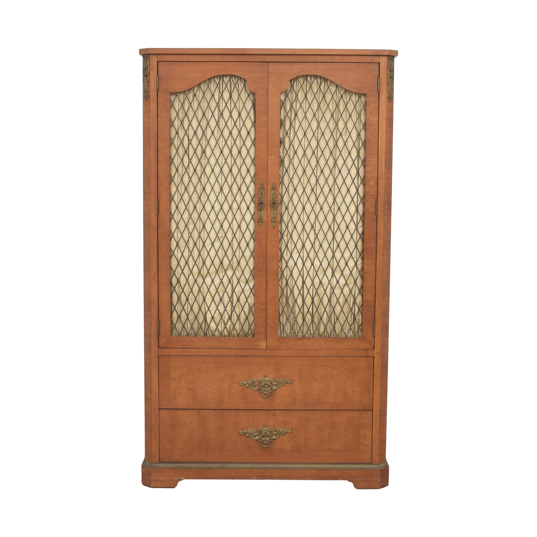 Henredon Furniture Henredon Lattice Door Armoire discount