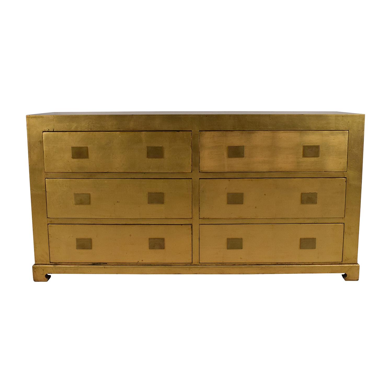 Asian Barn Six Drawer Dresser / Storage