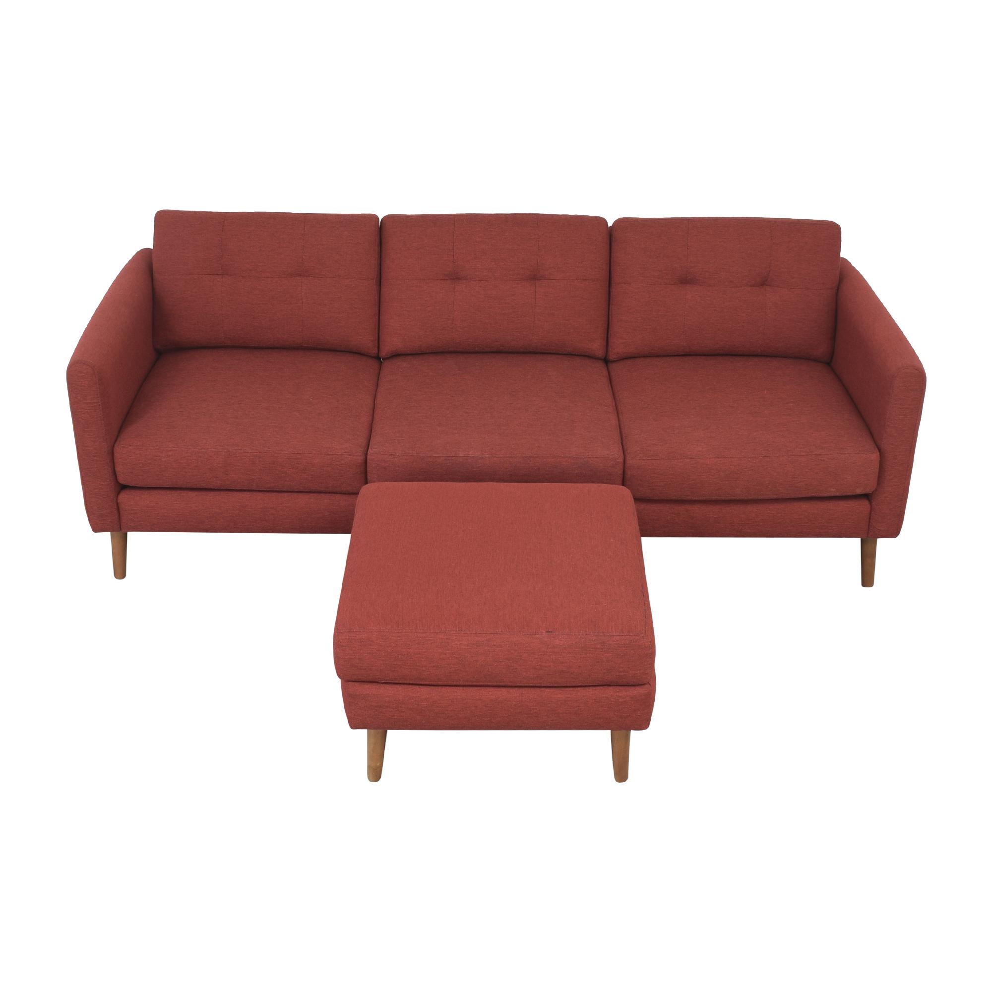 buy Burrow Block Nomad Sofa with Ottoman Burrow Sofas