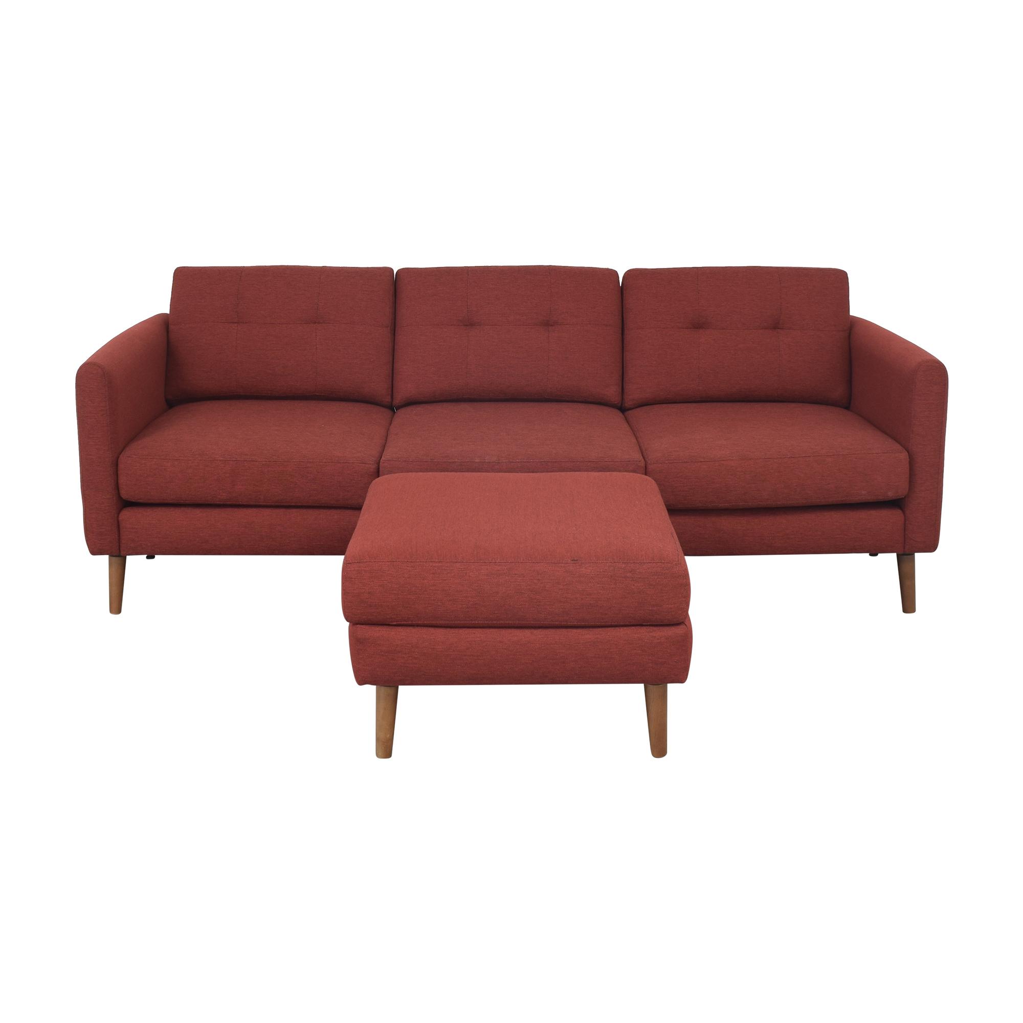 Burrow Burrow Block Nomad Sofa with Ottoman second hand