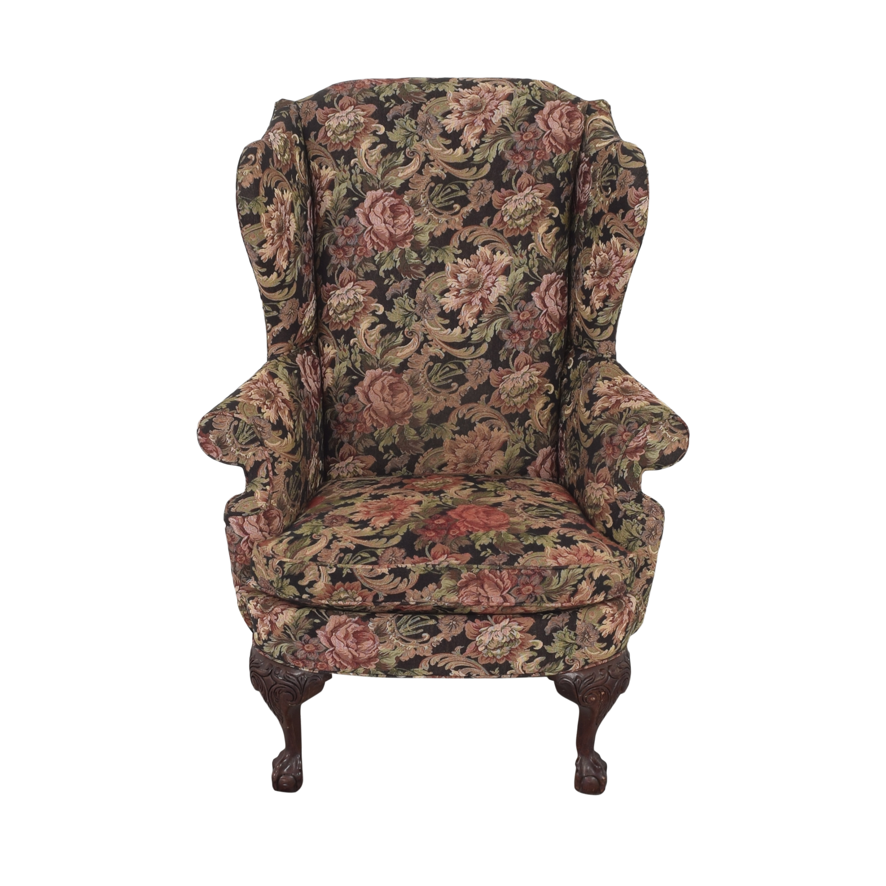 Thomasville Thomasville Queen Anne Wing Back Chair multi