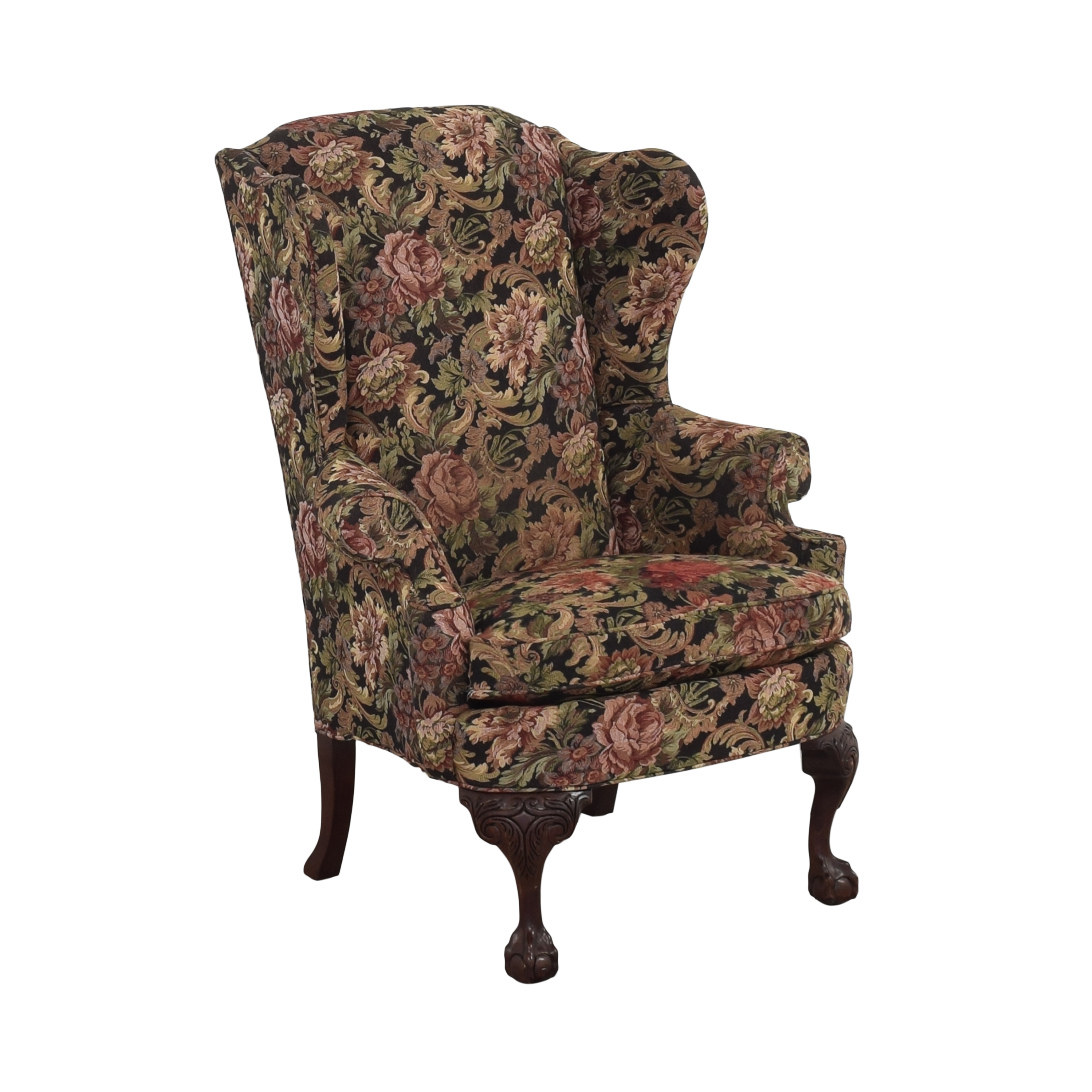 Thomasville Queen Anne Wing Back Chair / Chairs