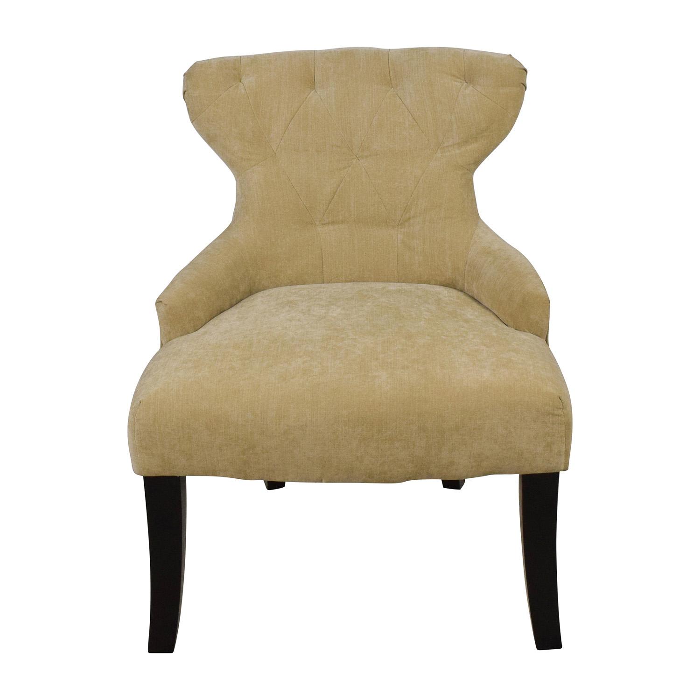 Target Target Tufted Beige Side Armchair Tan