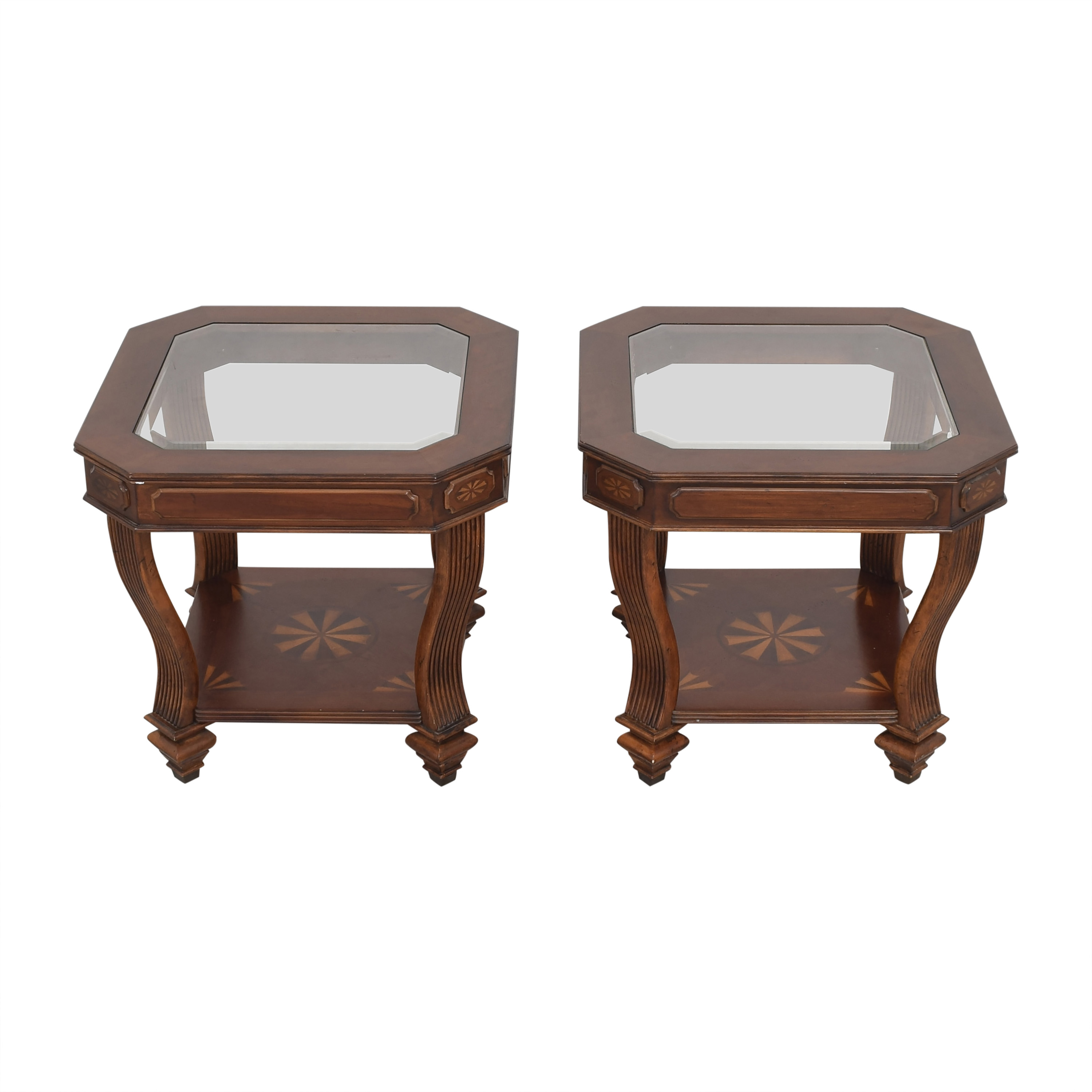 Tiered End Tables with Transparent Surfaces coupon