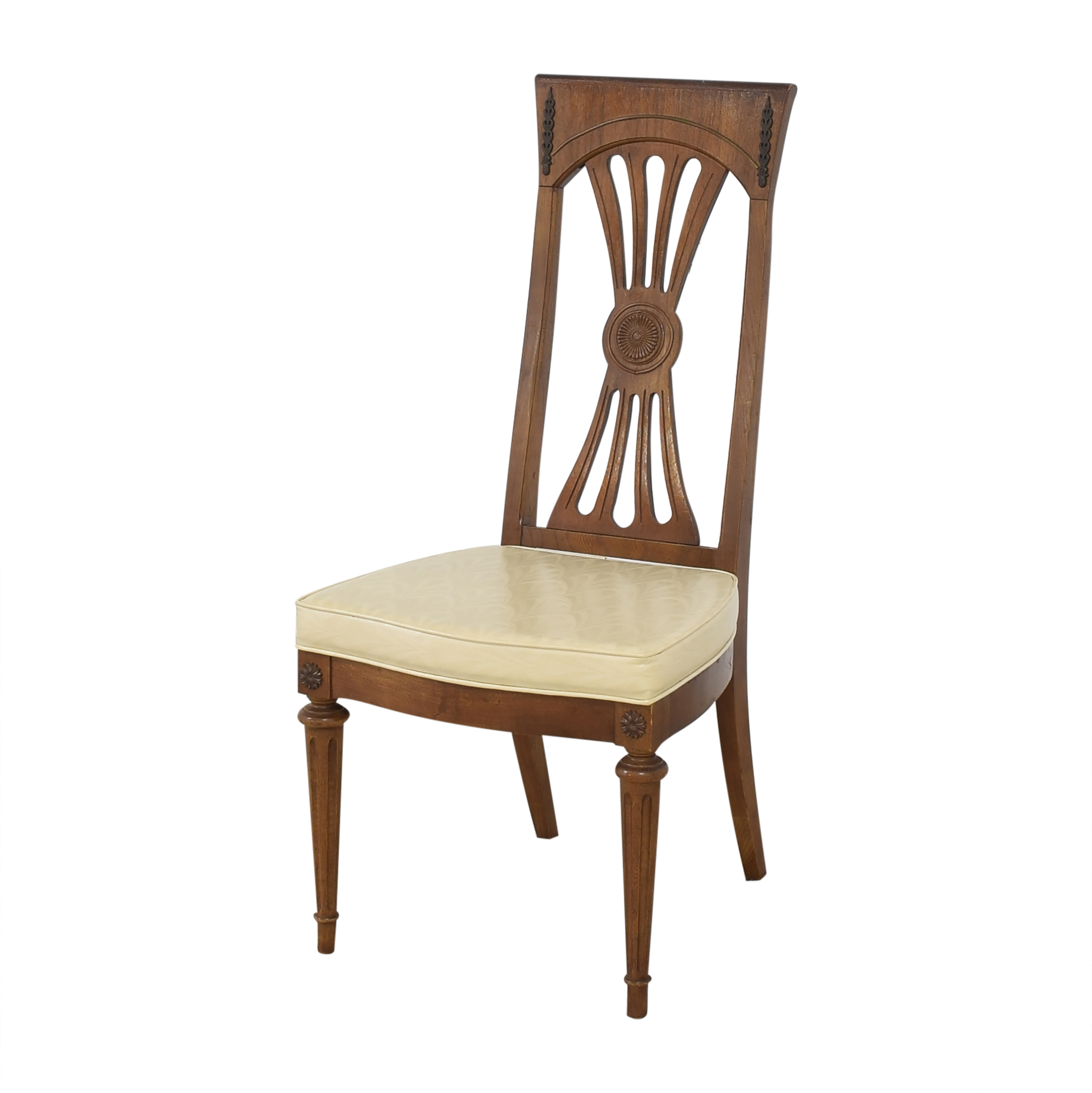 Carved Back Dining Chairs / Chairs