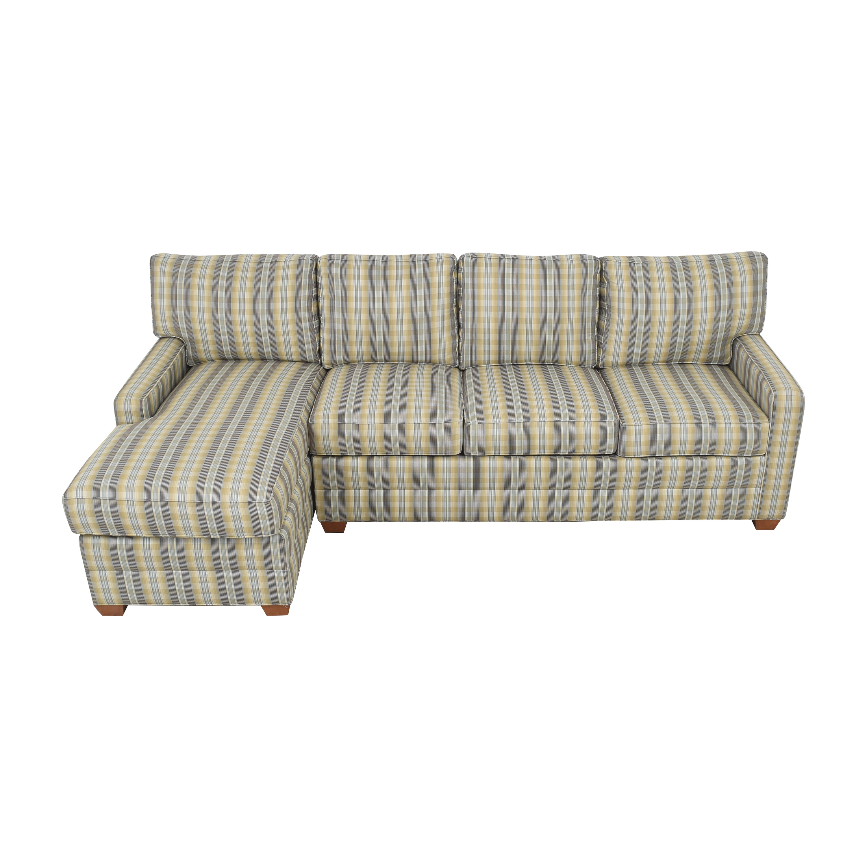 Ethan Allen Chaise Sectional Sofa sale