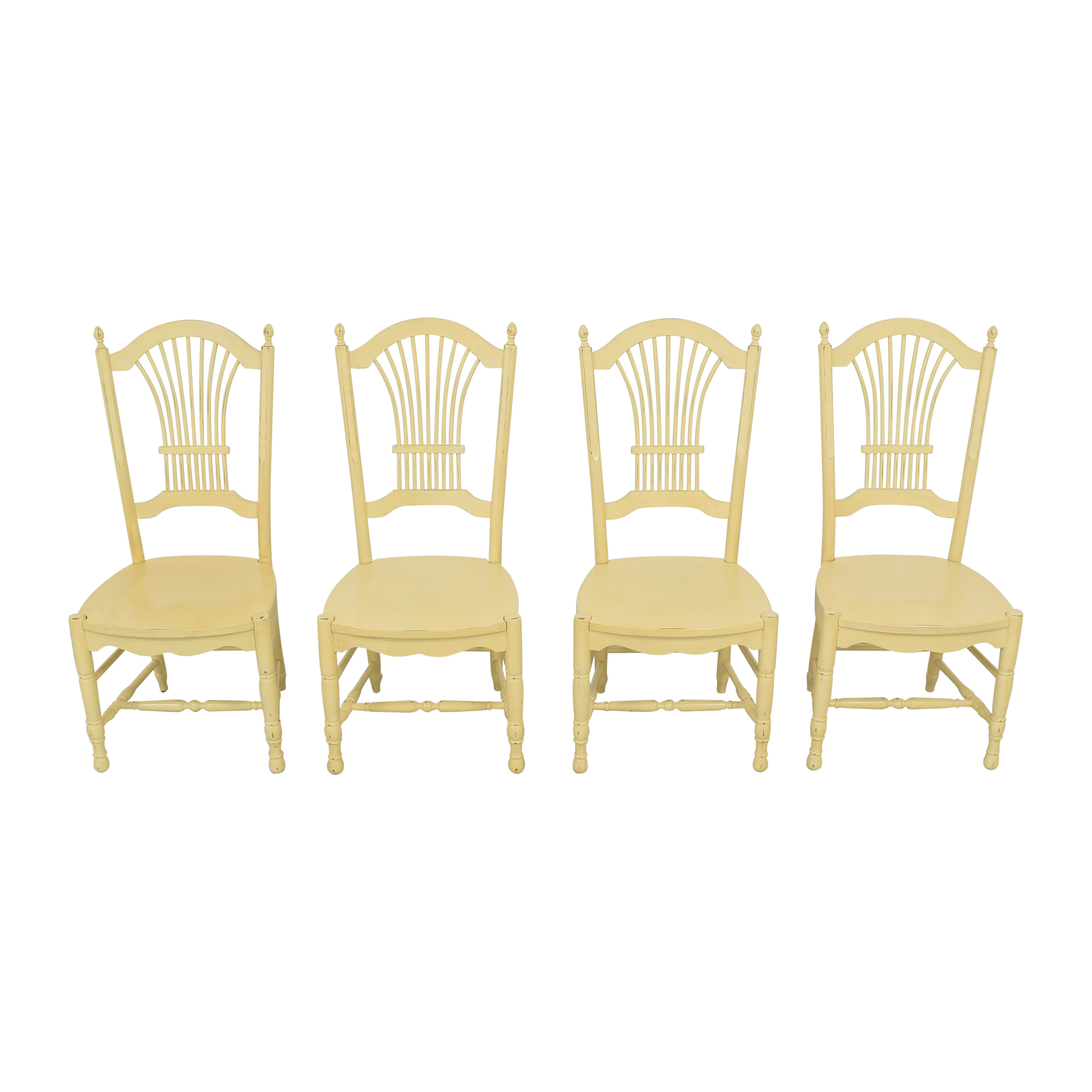 Ethan Allen Ethan Allen Wheat Back Dining Chairs for sale