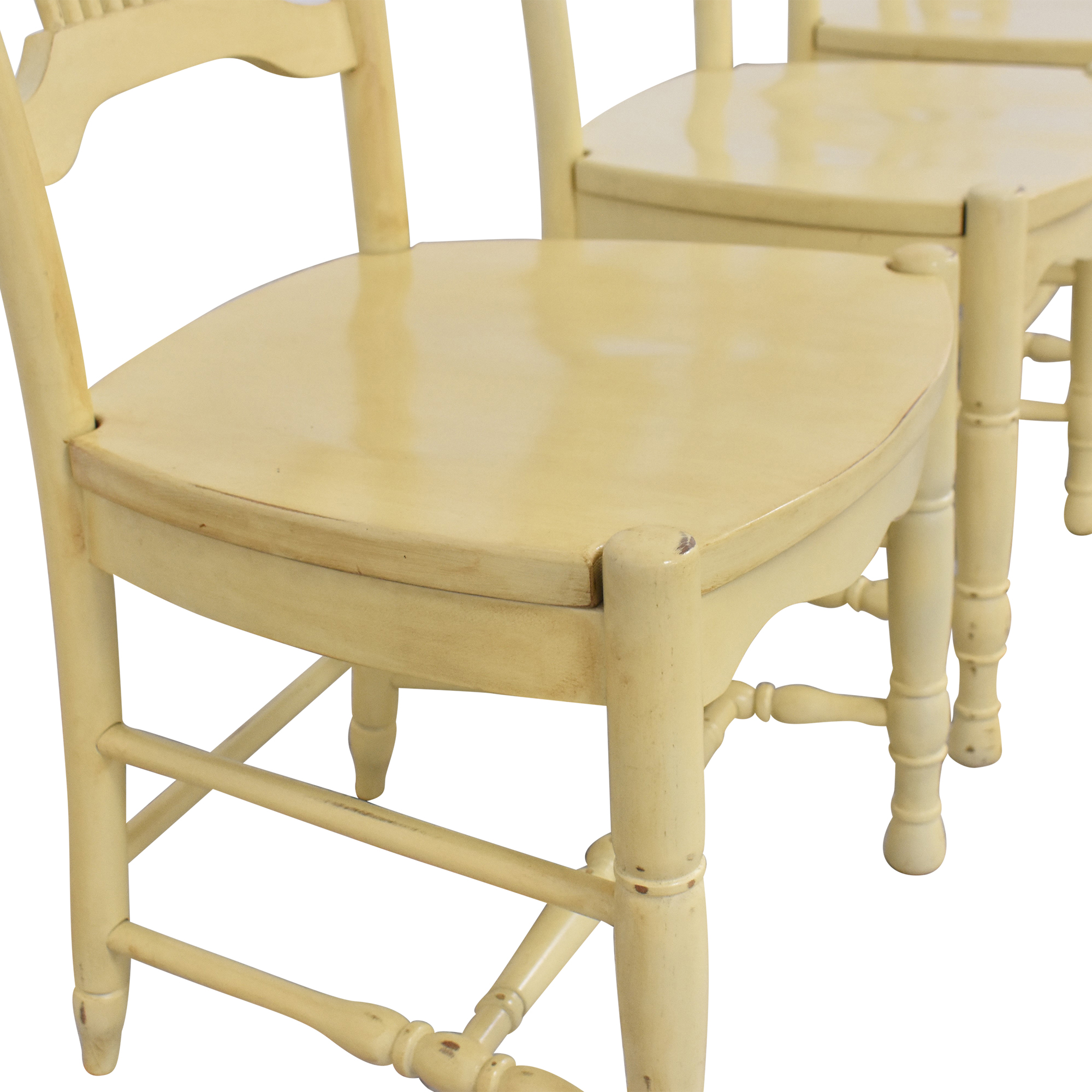 Ethan Allen Ethan Allen Wheat Back Dining Chairs dimensions