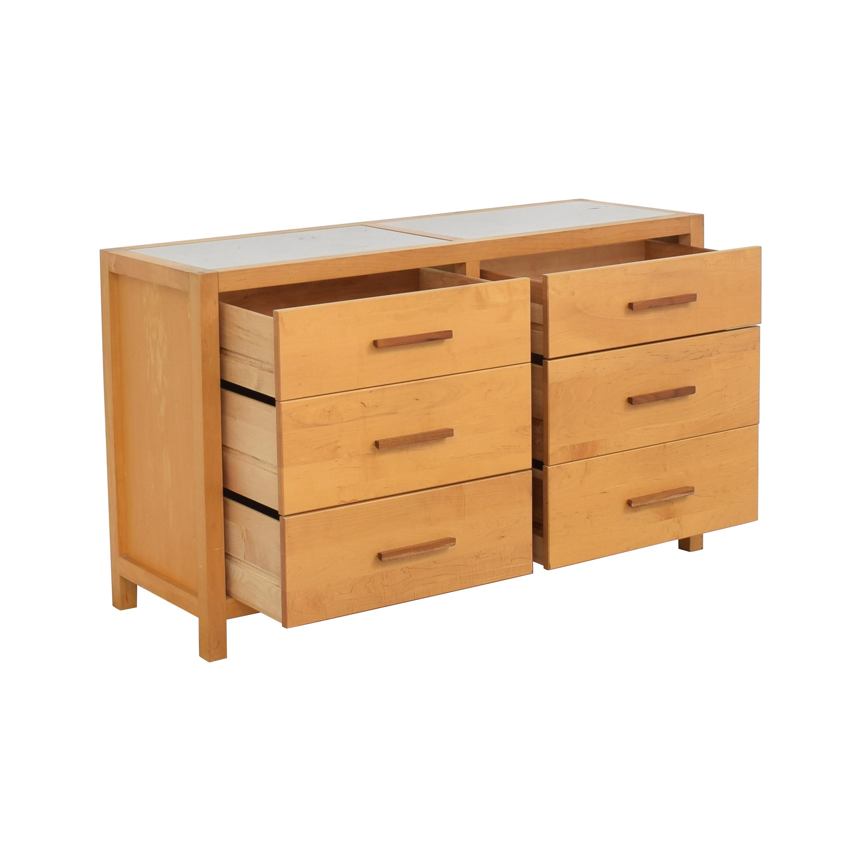 buy Crate & Barrel by Copeland Six Drawer Dresser Crate & Barrel Storage