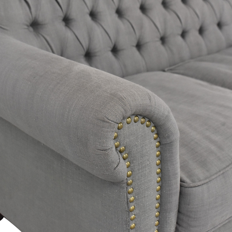 ABC Carpet & Home ABC Carpet & Home Tufted Three Cushion Sofa Classic Sofas