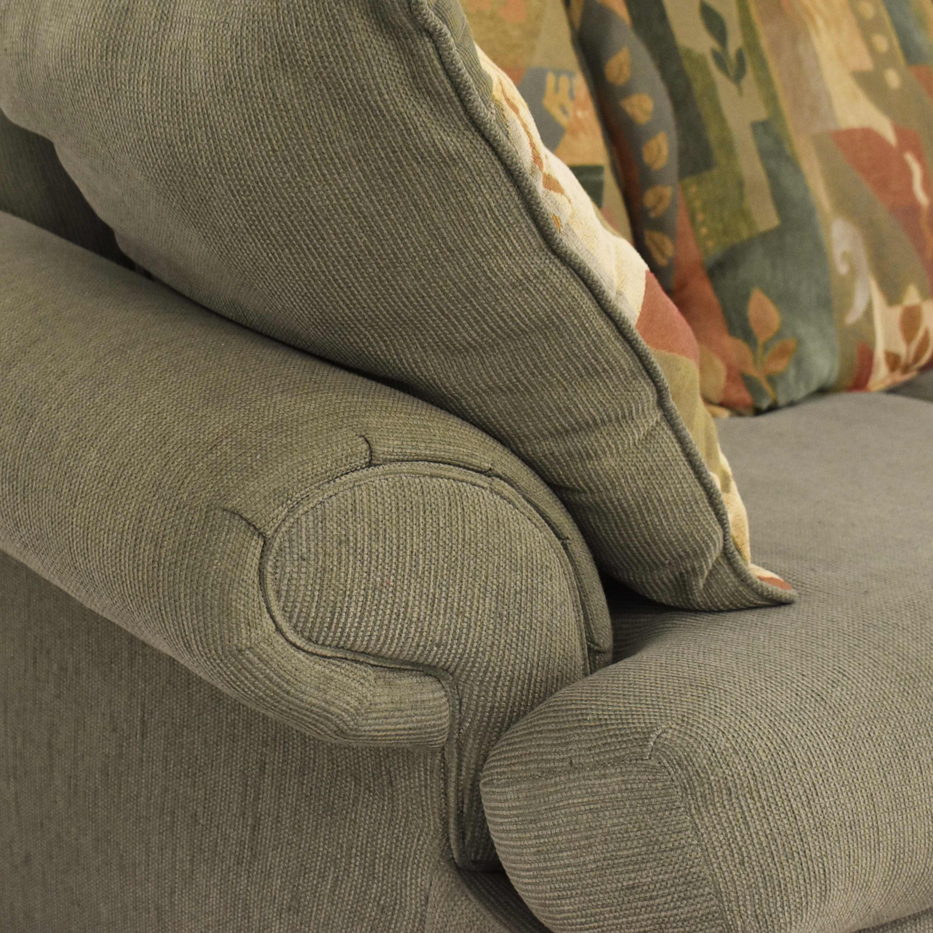 Two Cushion Sofa with Pillows dimensions