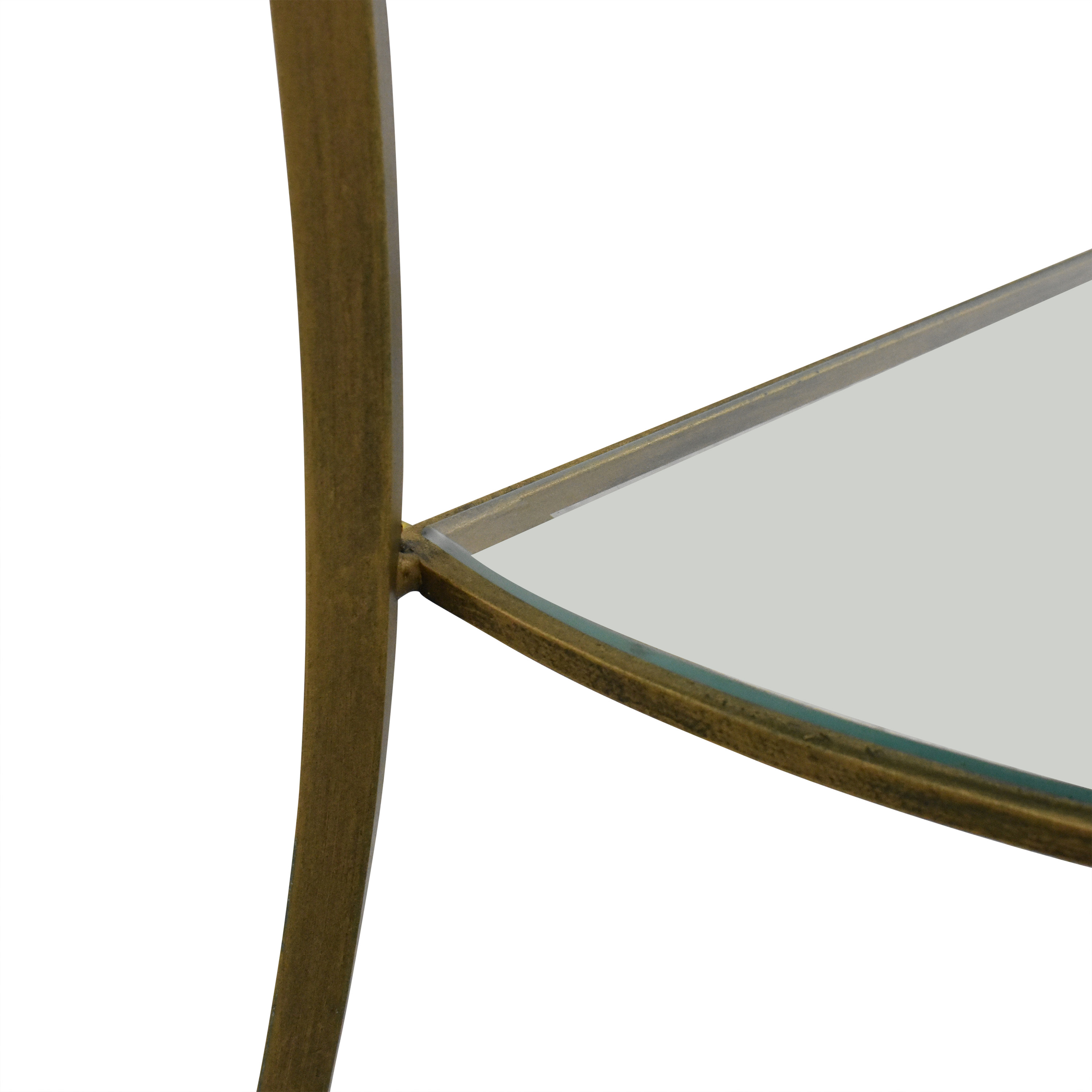 Demilune Console Table with Transparent Surface price