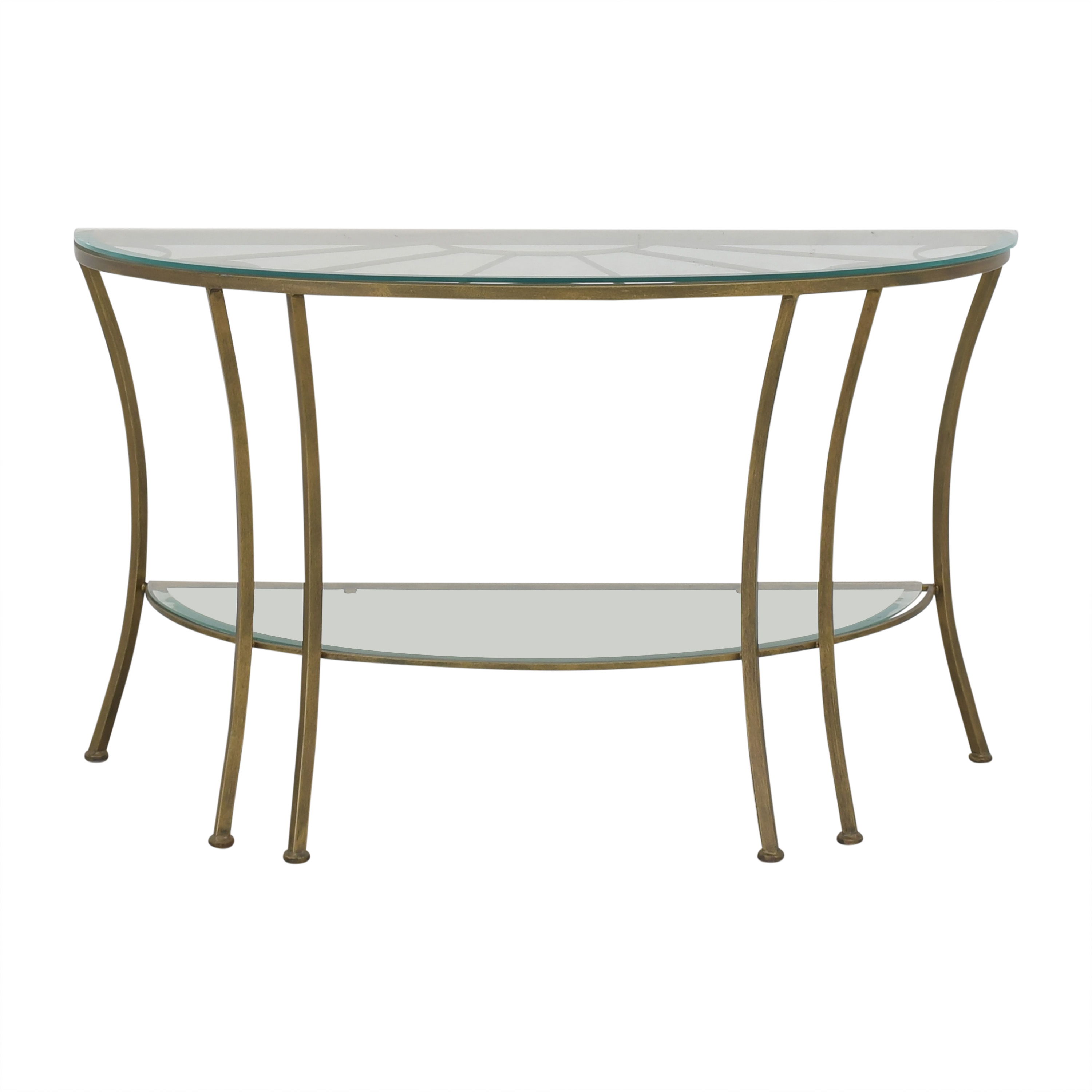 Demilune Console Table with Transparent Surface pa