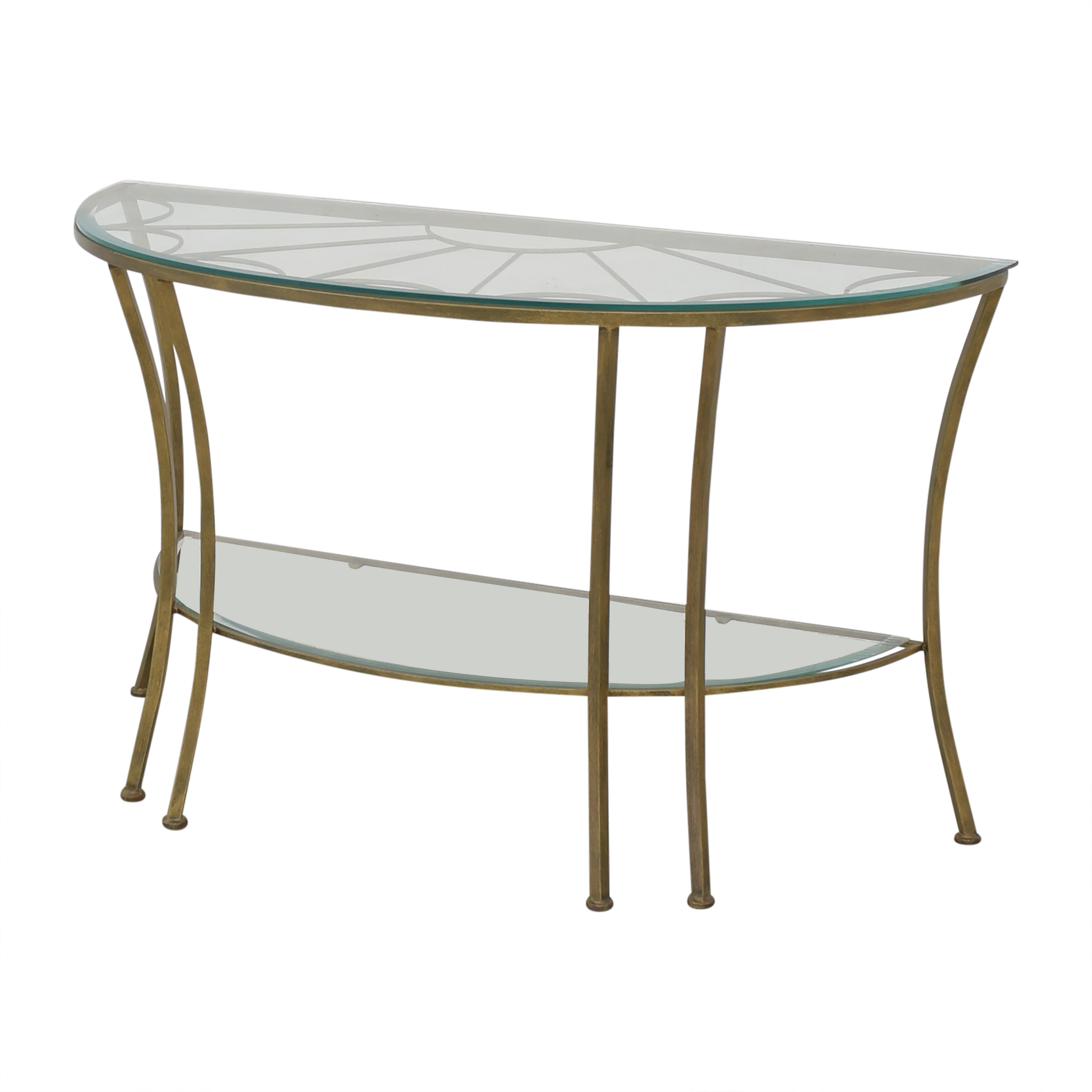 Demilune Console Table with Transparent Surface discount