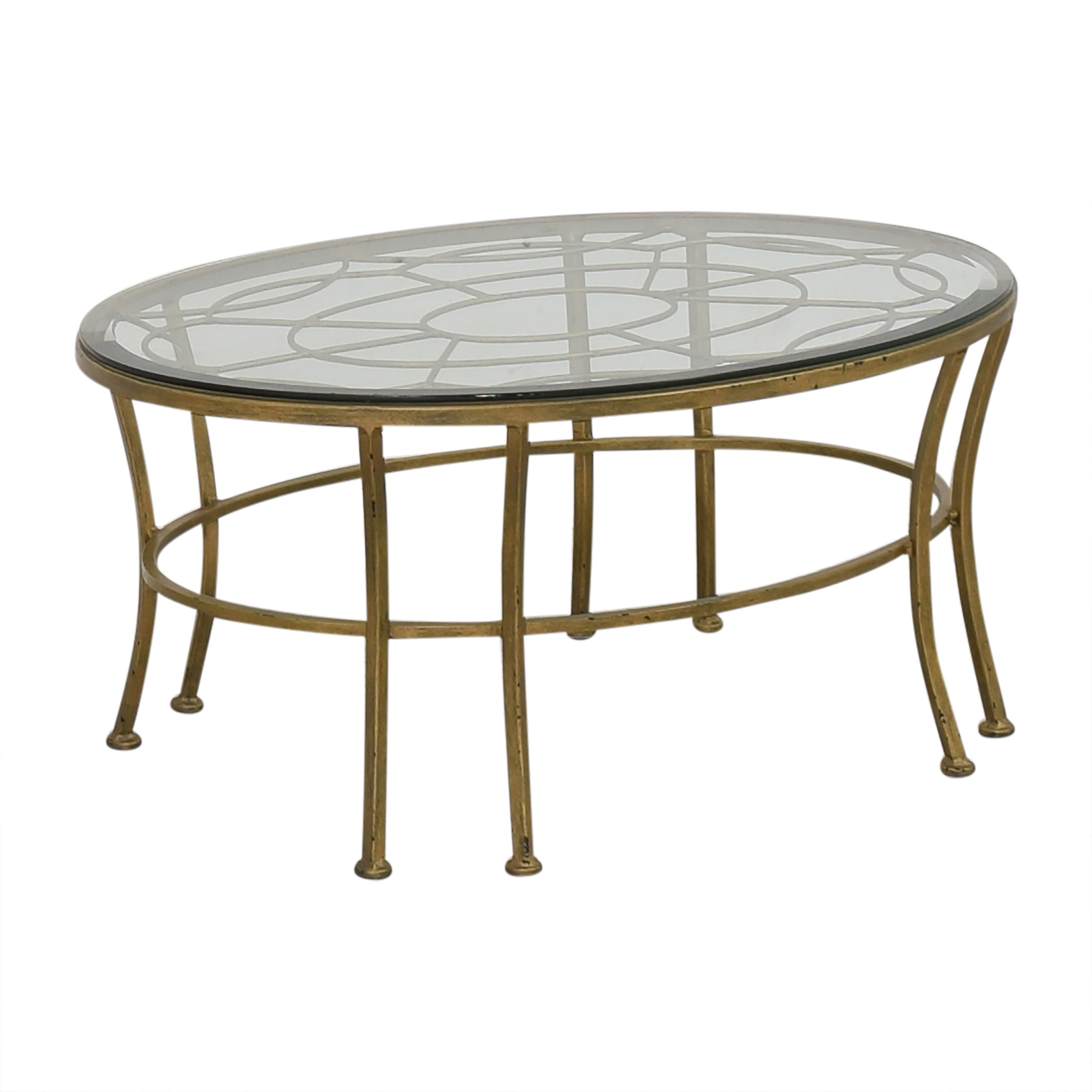Round Coffee Table with Transparent Surface coupon