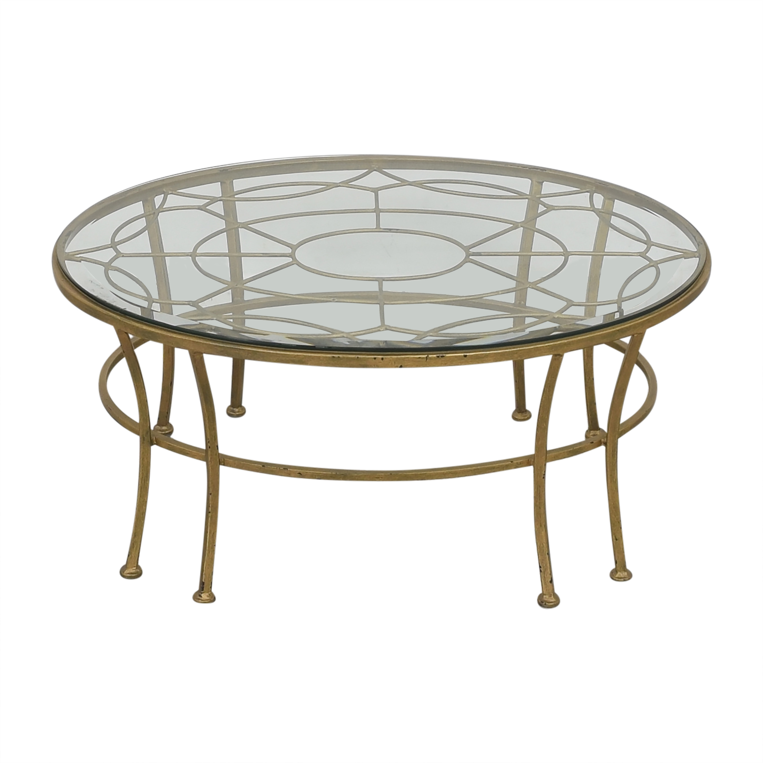shop Round Coffee Table with Transparent Surface  Coffee Tables