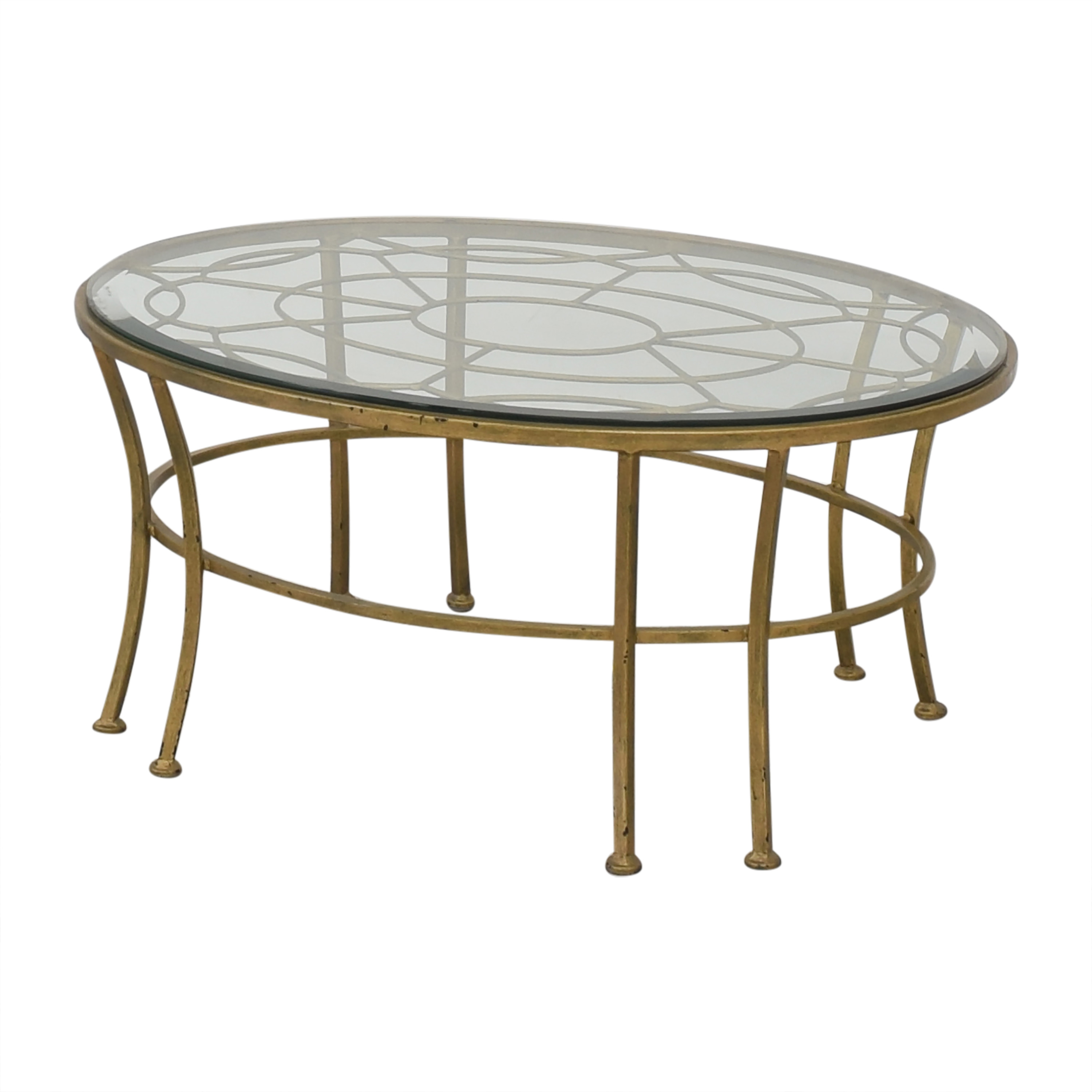 shop  Round Coffee Table with Transparent Surface online