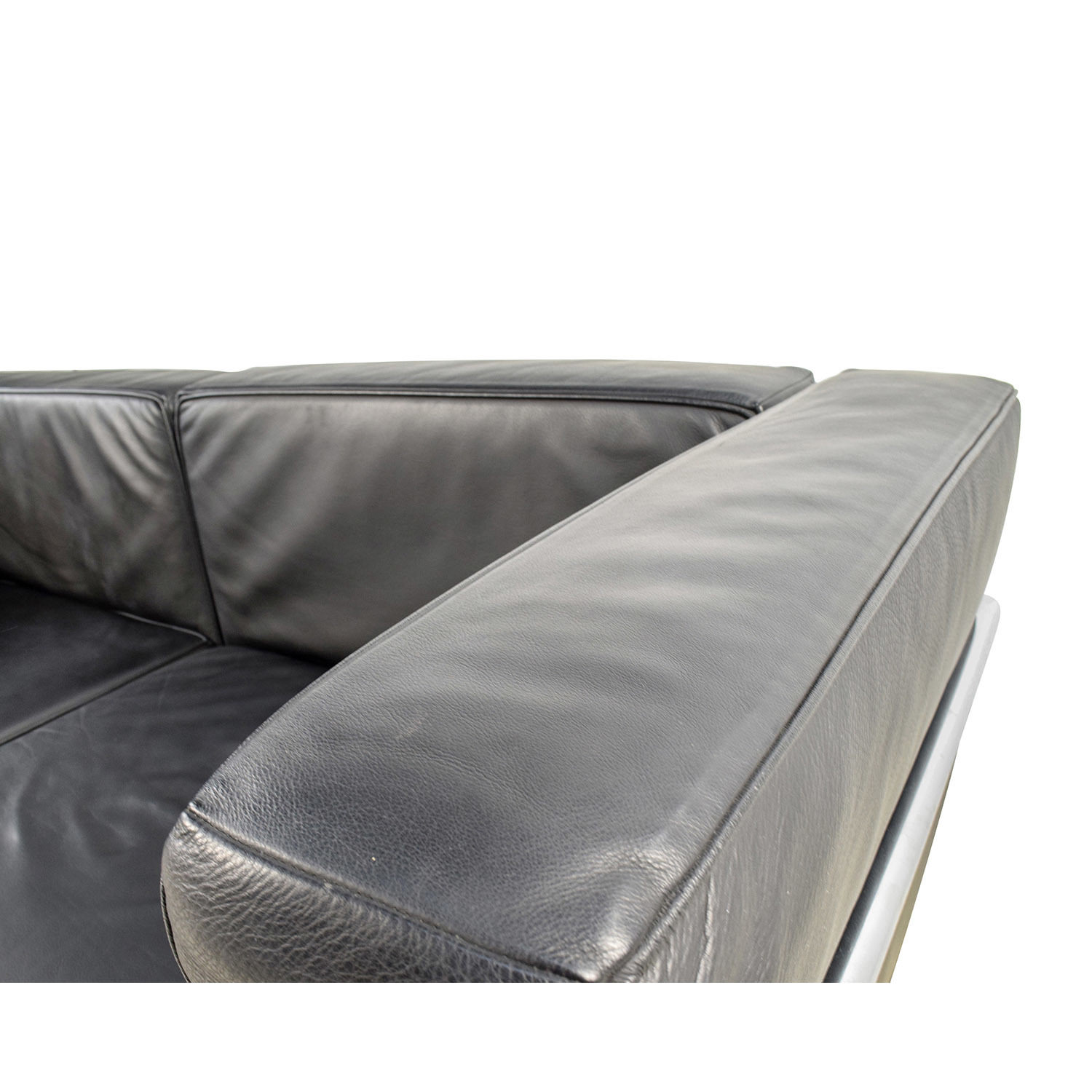 Sofa bed design within reach -  Design Within Reach Lc3 Grande Modele Two Seat Black Leather Sofa Design Within Reach
