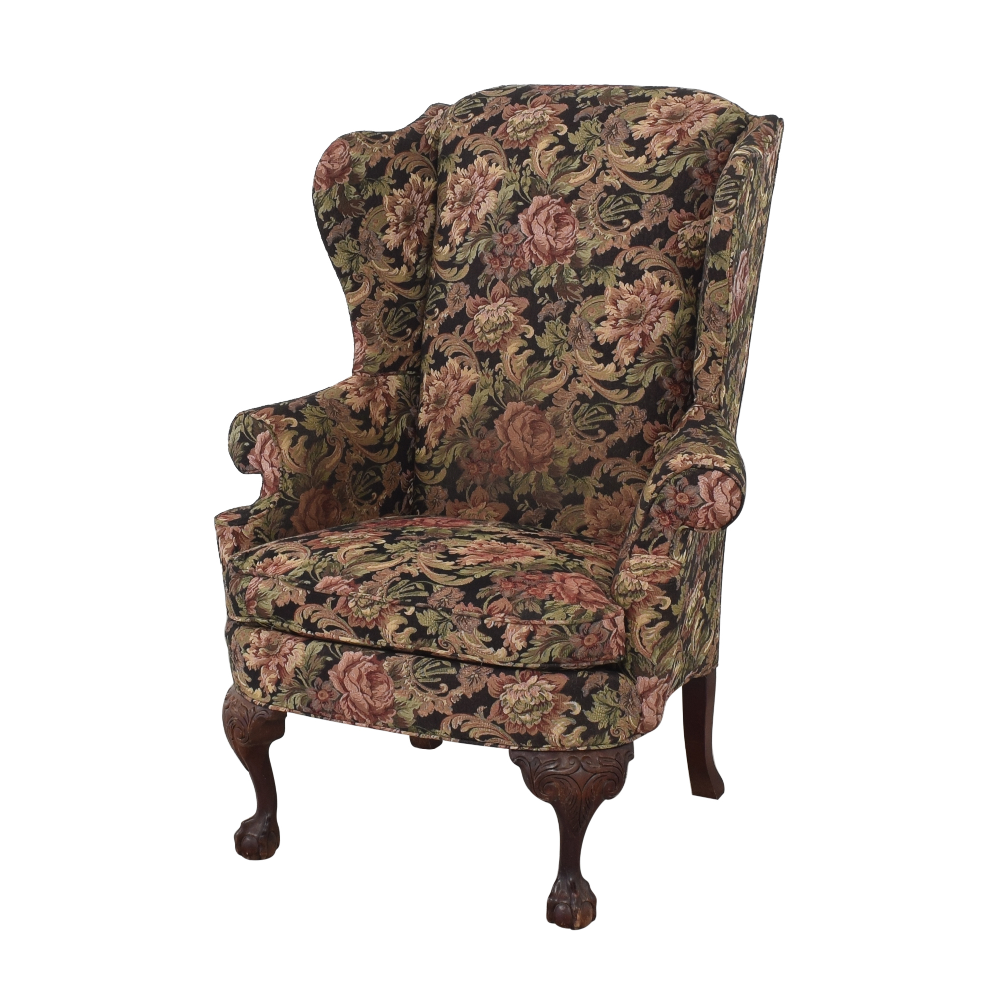 Thomasville Thomasville Queen Anne Wing Back Chair Accent Chairs