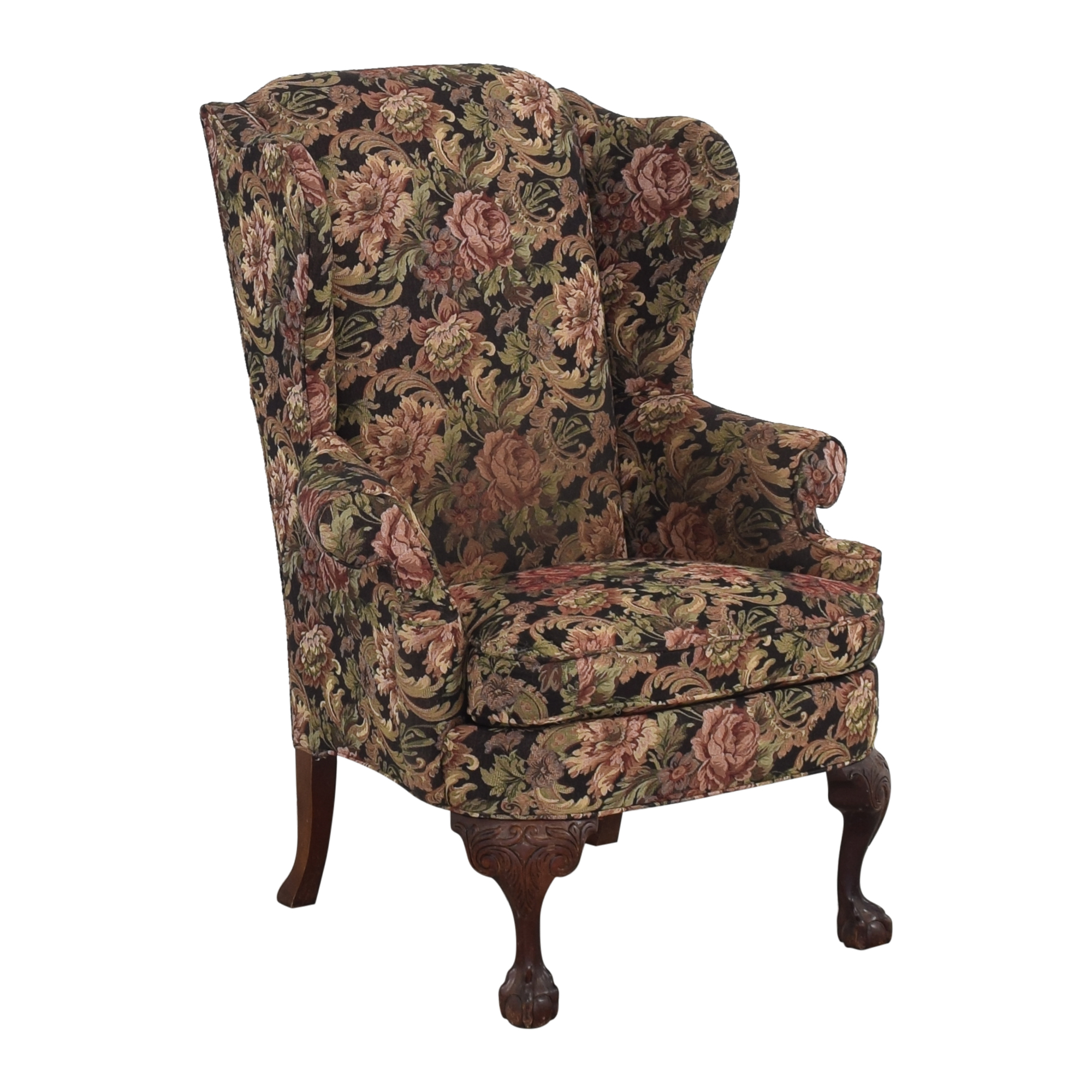 Thomasville Queen Anne Wing Back Chair / Accent Chairs
