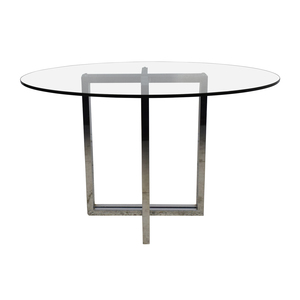 CB2 CB2 Silverado Chrome Round Dining Table for sale
