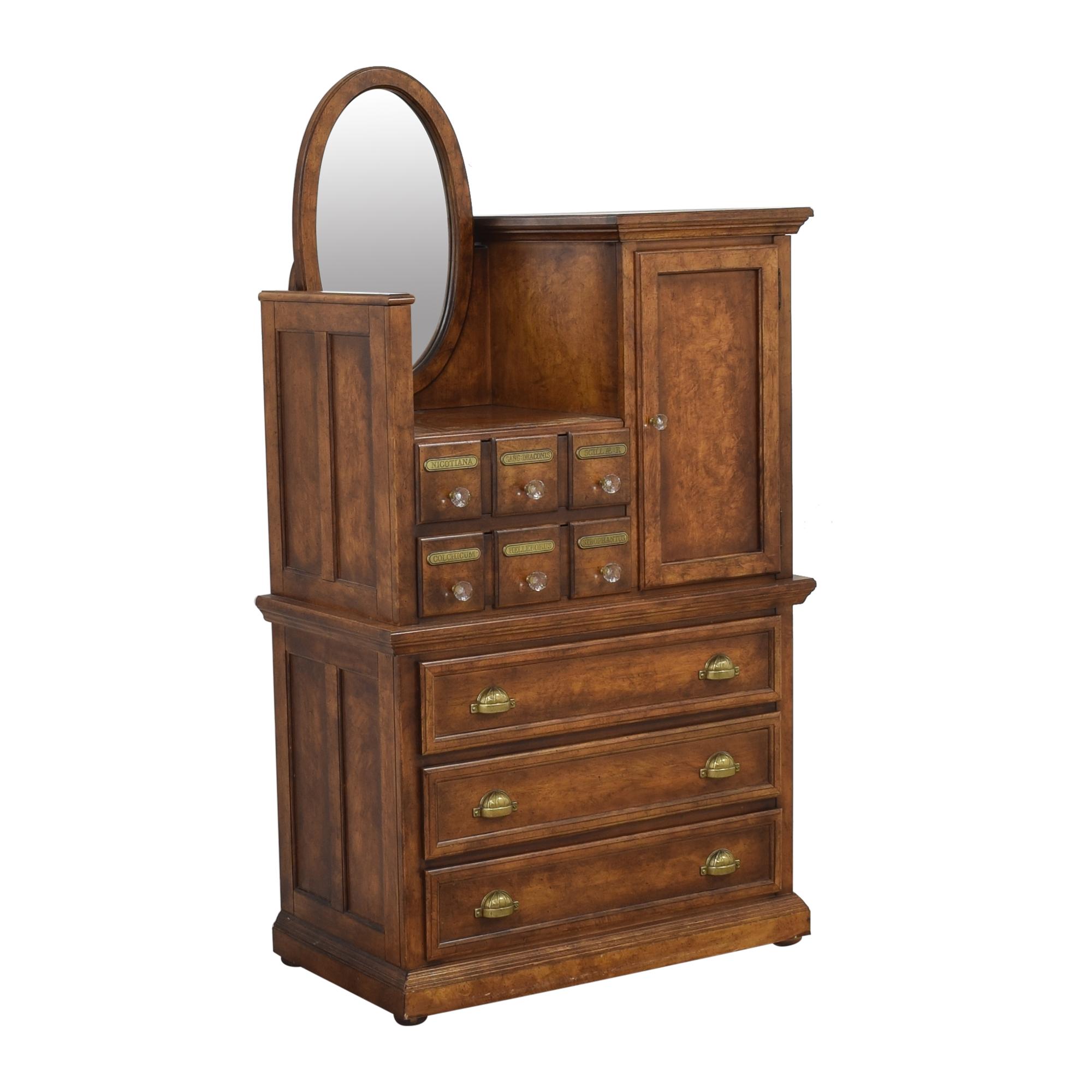 Antique Apothecary Wardrobe with Mirror Storage
